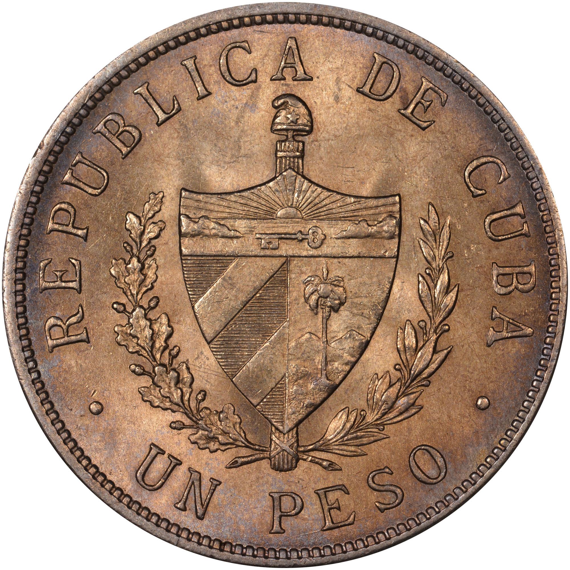 1915-1934 Cuba Peso obverse