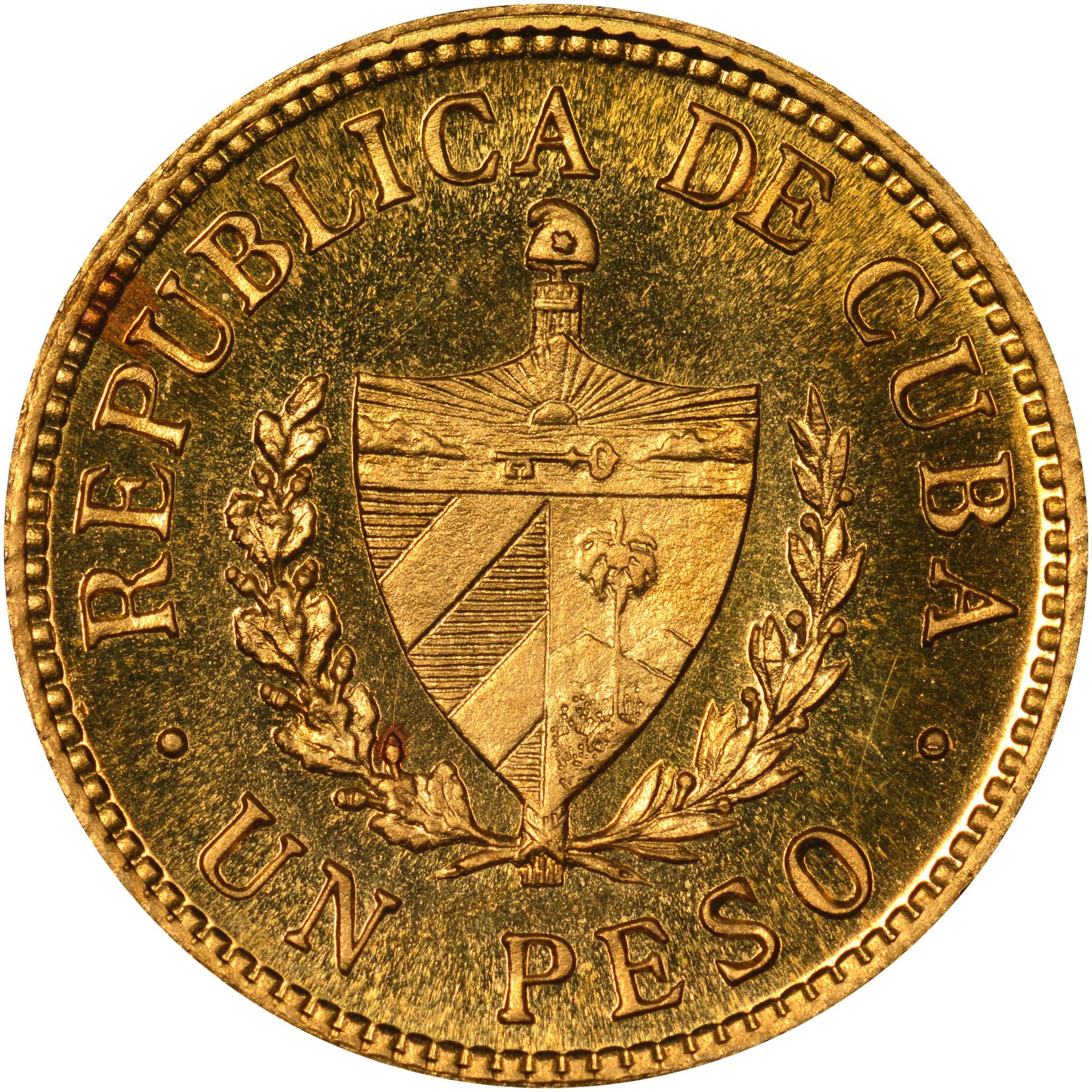 1915-1916 Cuba Peso reverse