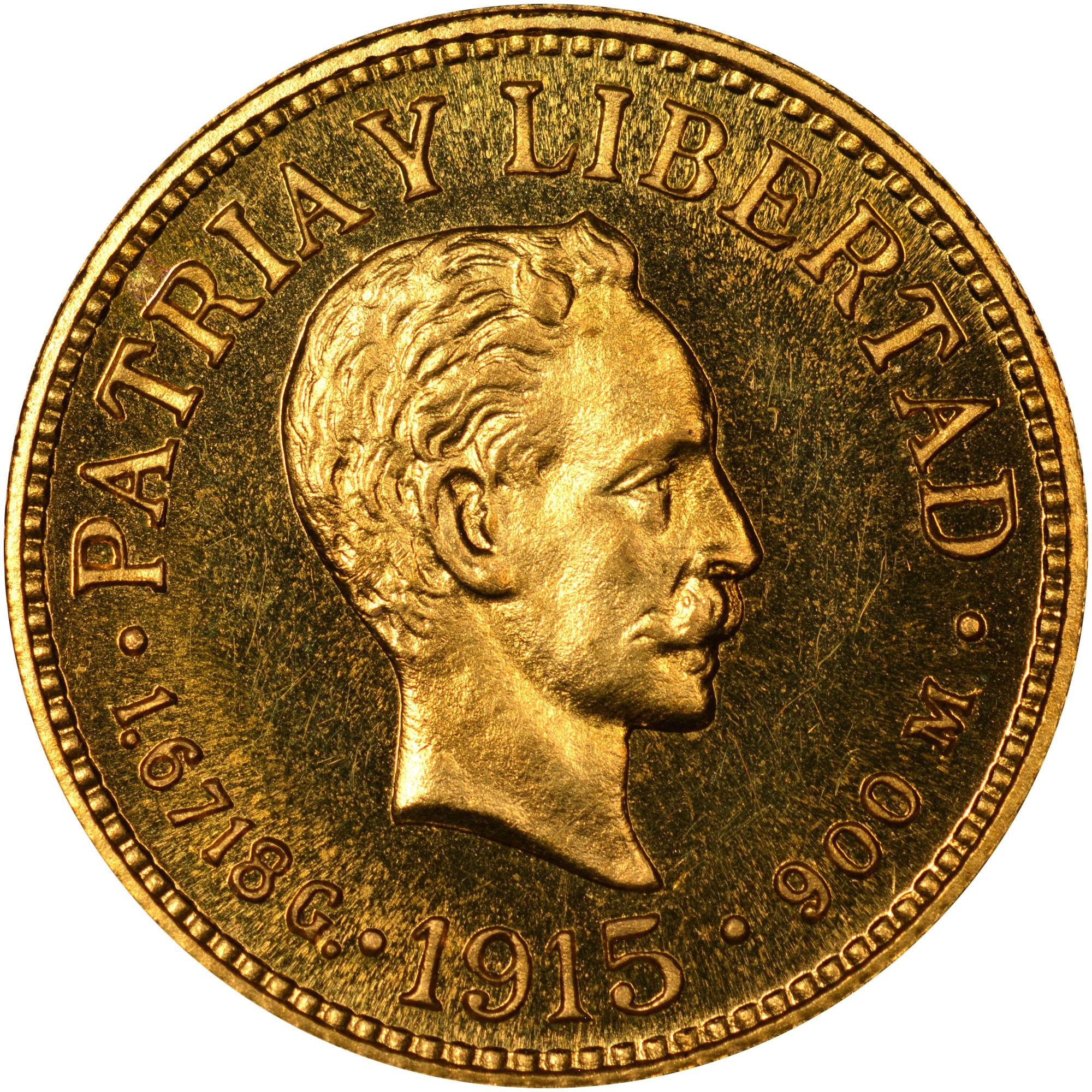 1915-1916 Cuba Peso obverse