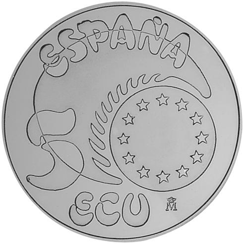 1989 Spain 5 ECU obverse
