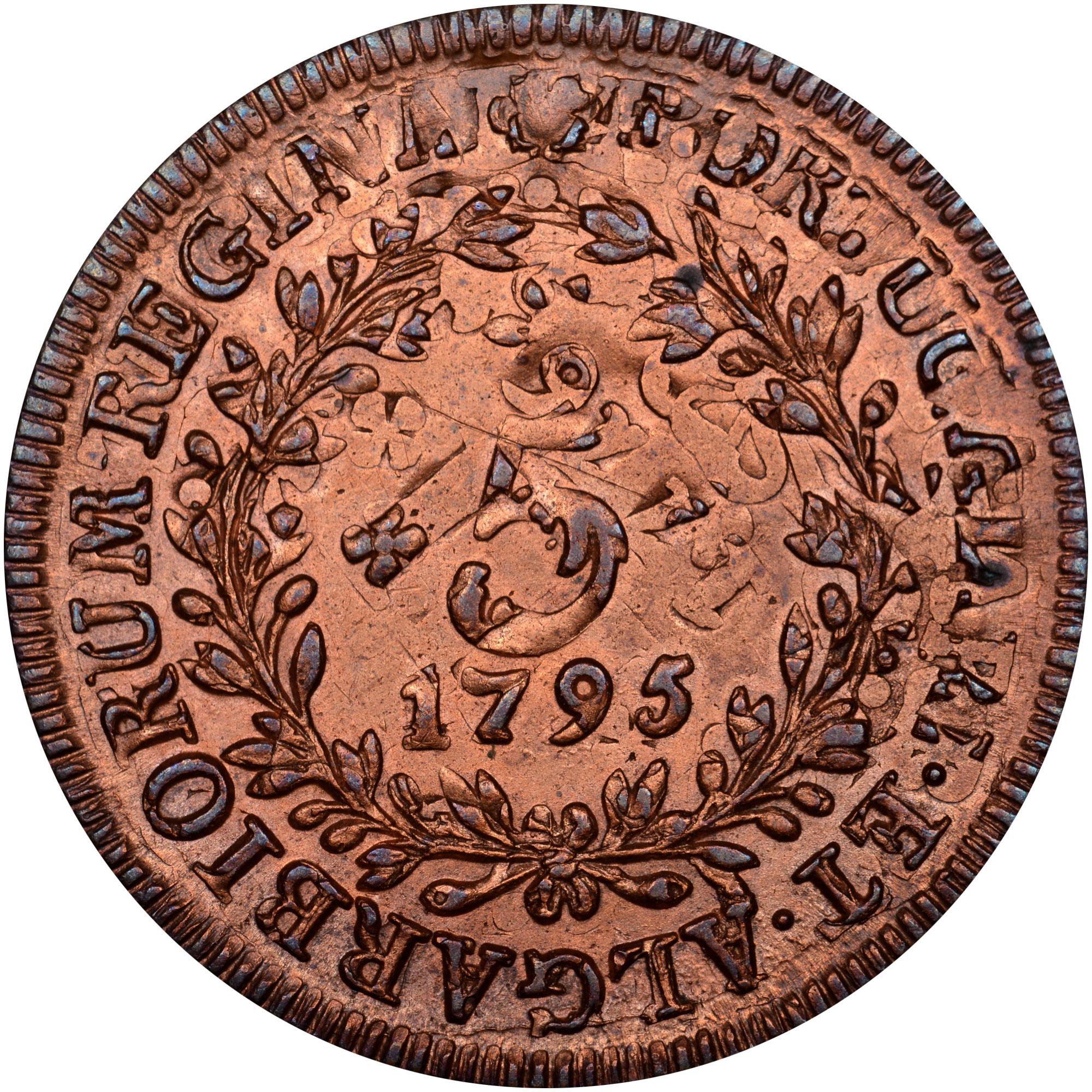 1795-1799 Azores 5 Reis reverse