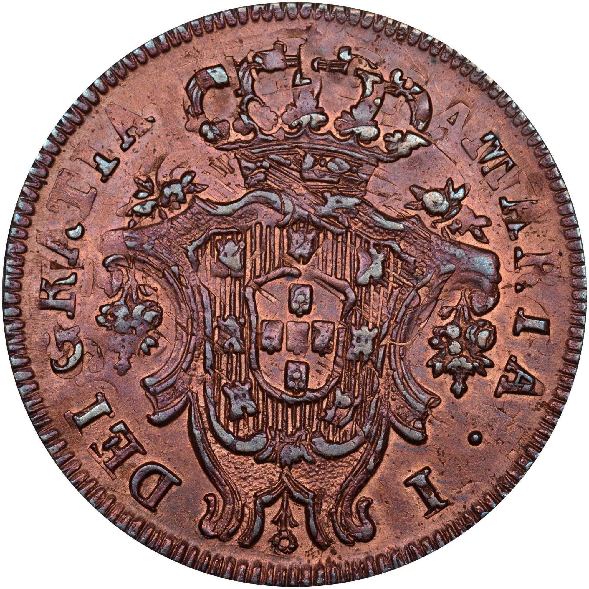 1795-1799 Azores 5 Reis obverse