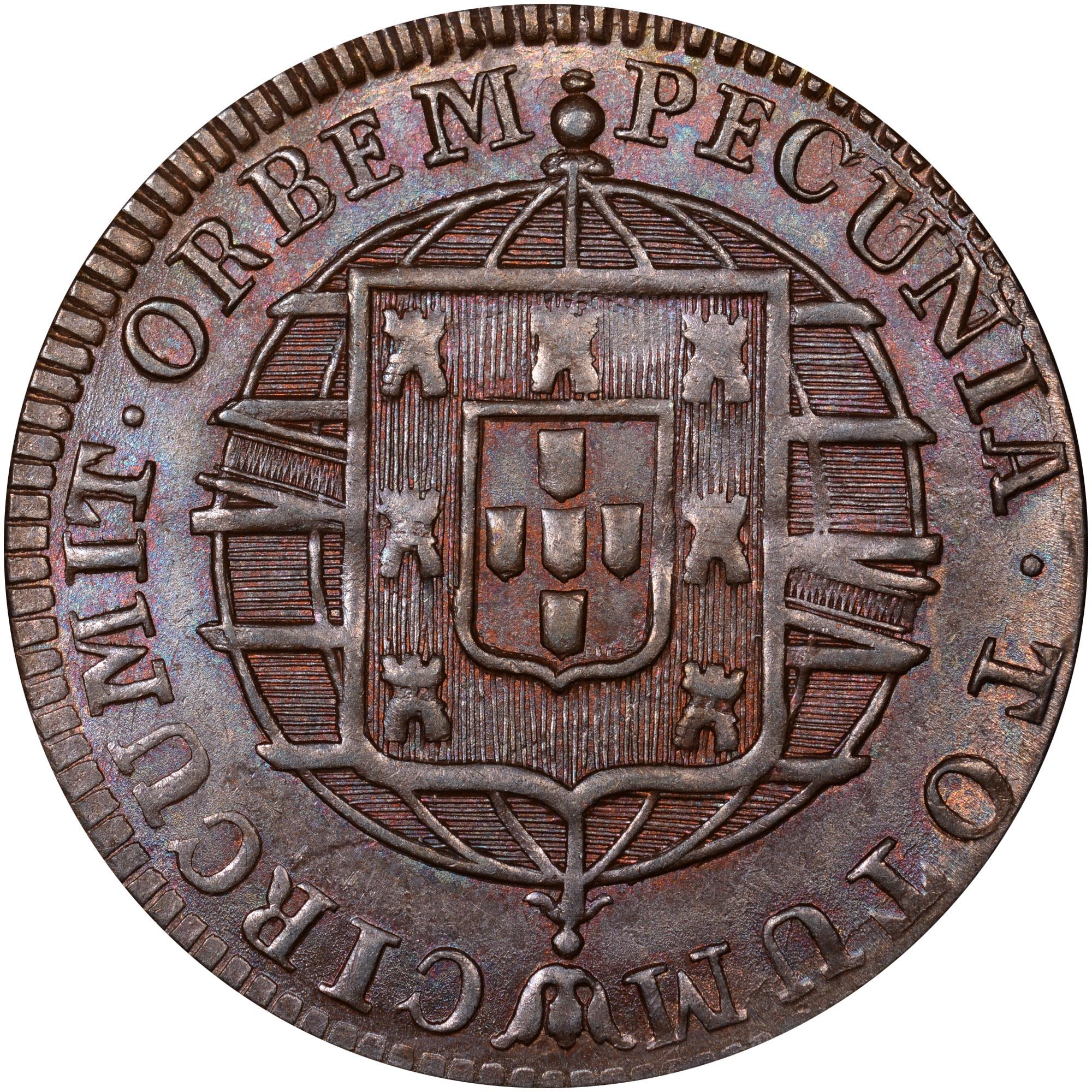1818-1822 Brazil 20 Reis reverse
