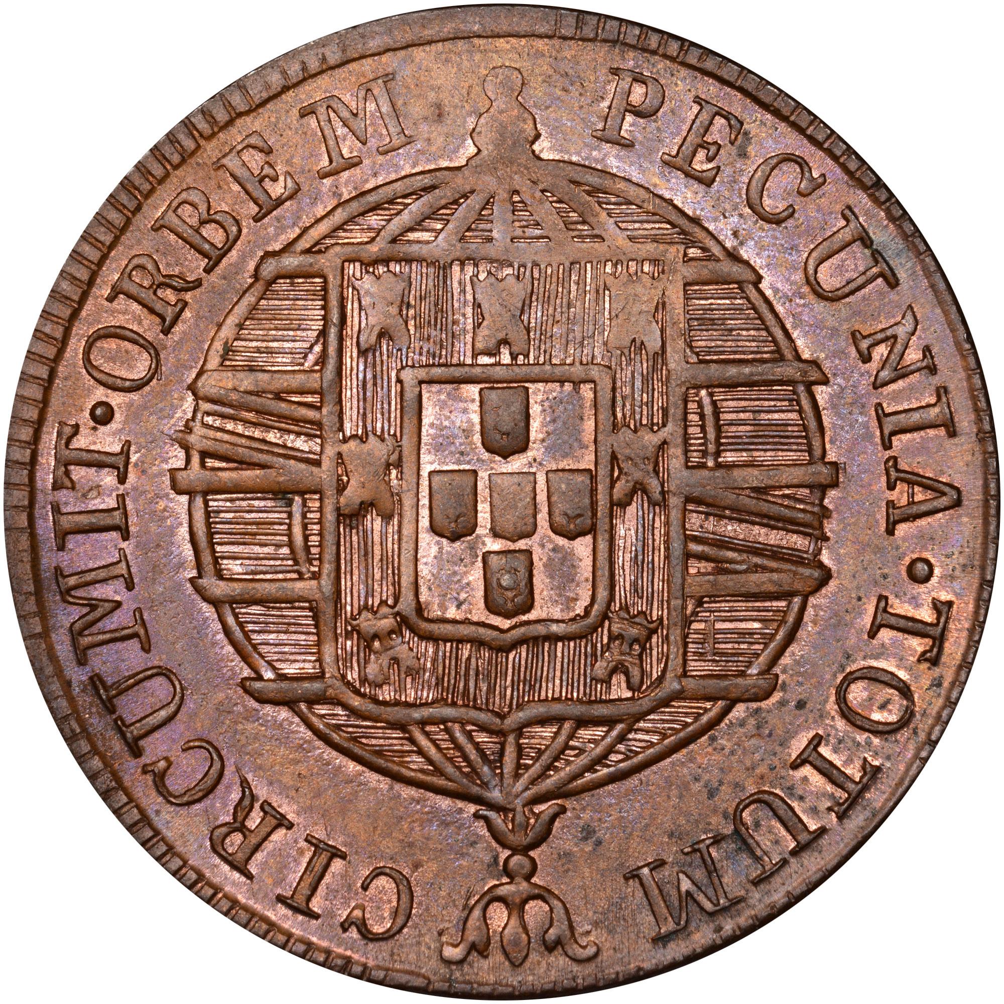 1818-1822 Brazil 40 Reis reverse