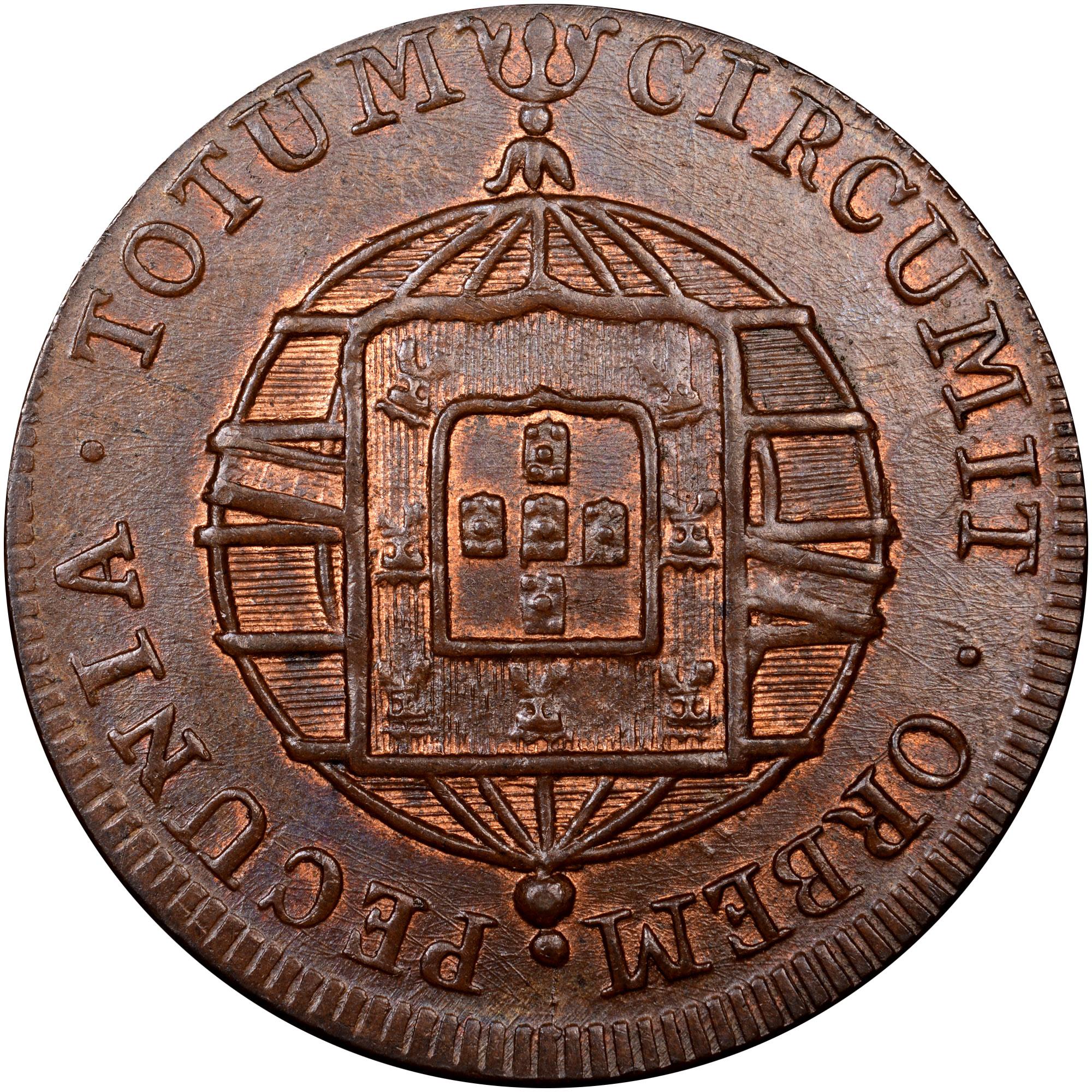 1818-1821 Brazil 75 Reis reverse