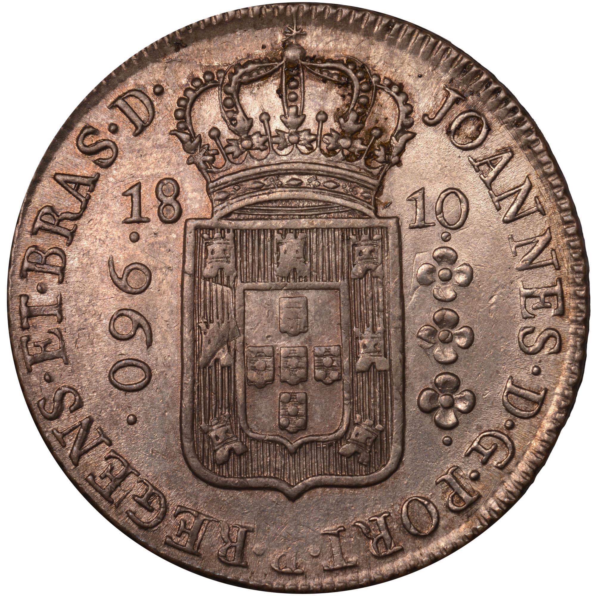 1810-1817 Brazil 960 Reis obverse