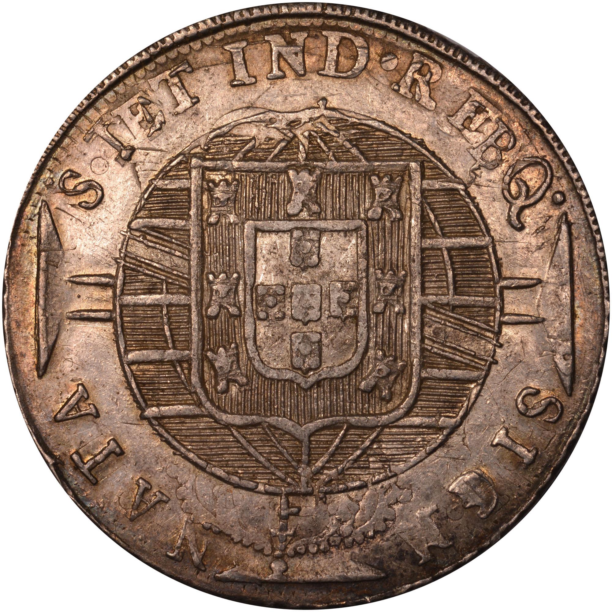1819-1920 Brazil 960 Reis reverse