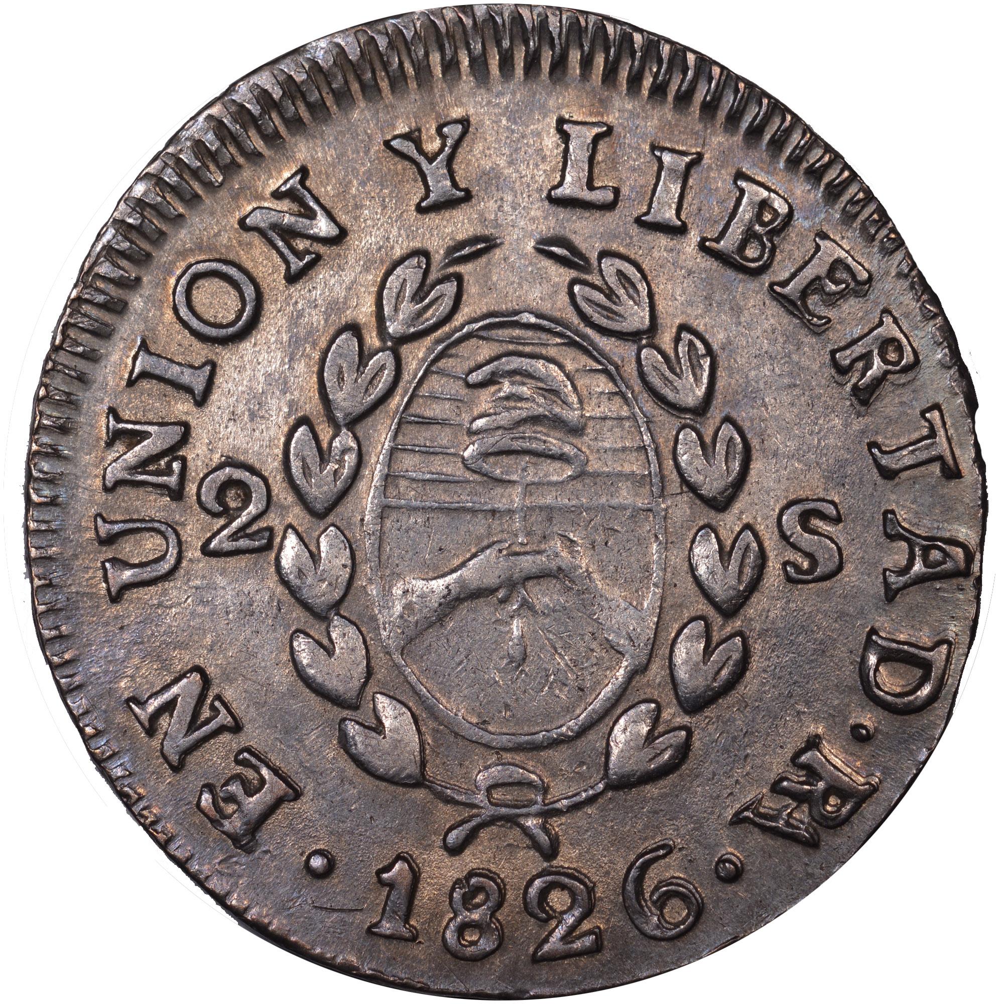 1824-1826/5 Argentina 2 Soles reverse