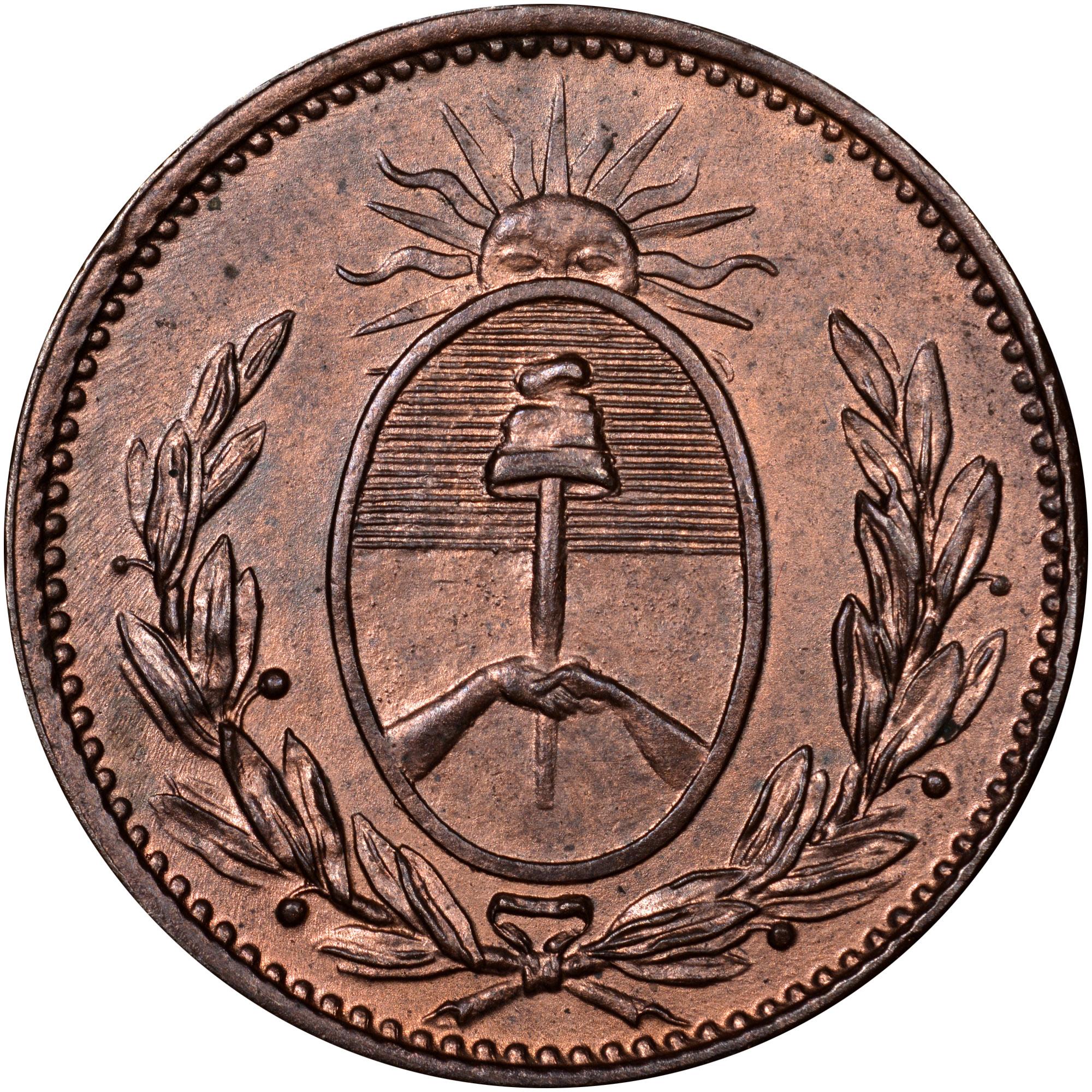 1822-1823 Argentina BUENOS AIRES Decimo reverse