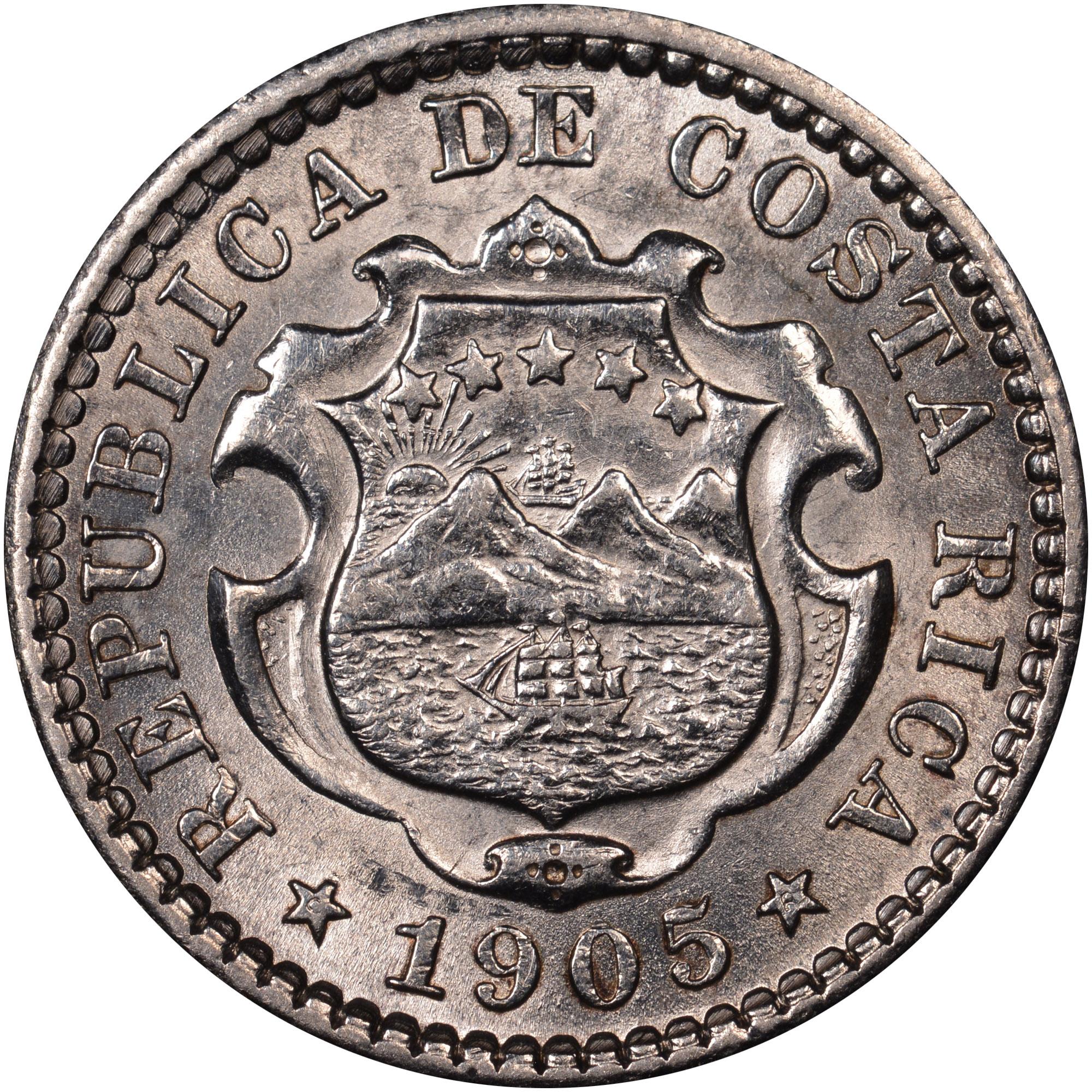 1905-1914 Costa Rica 10 Centimos obverse