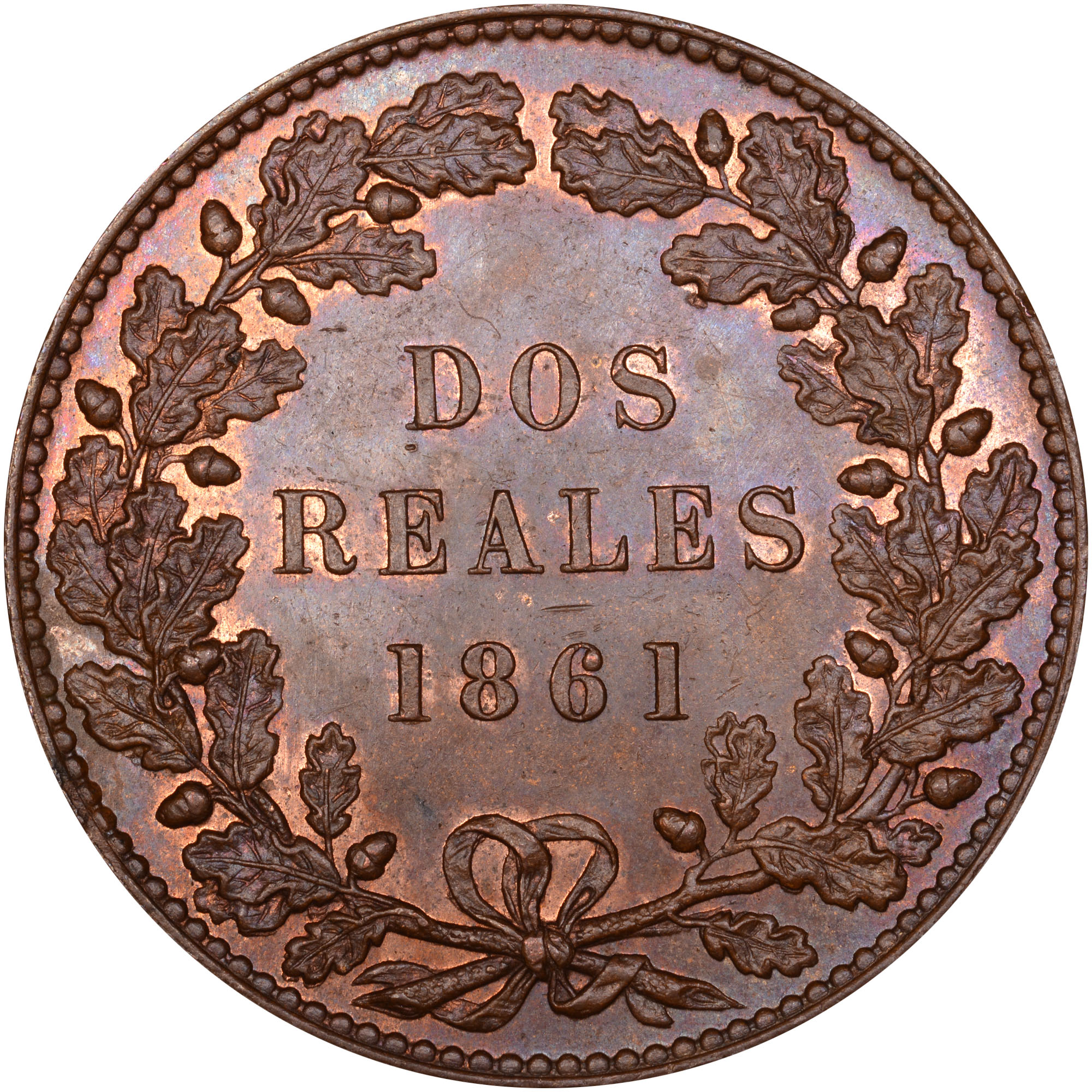 1860-1861 Argentina BUENOS AIRES 2 Reales obverse