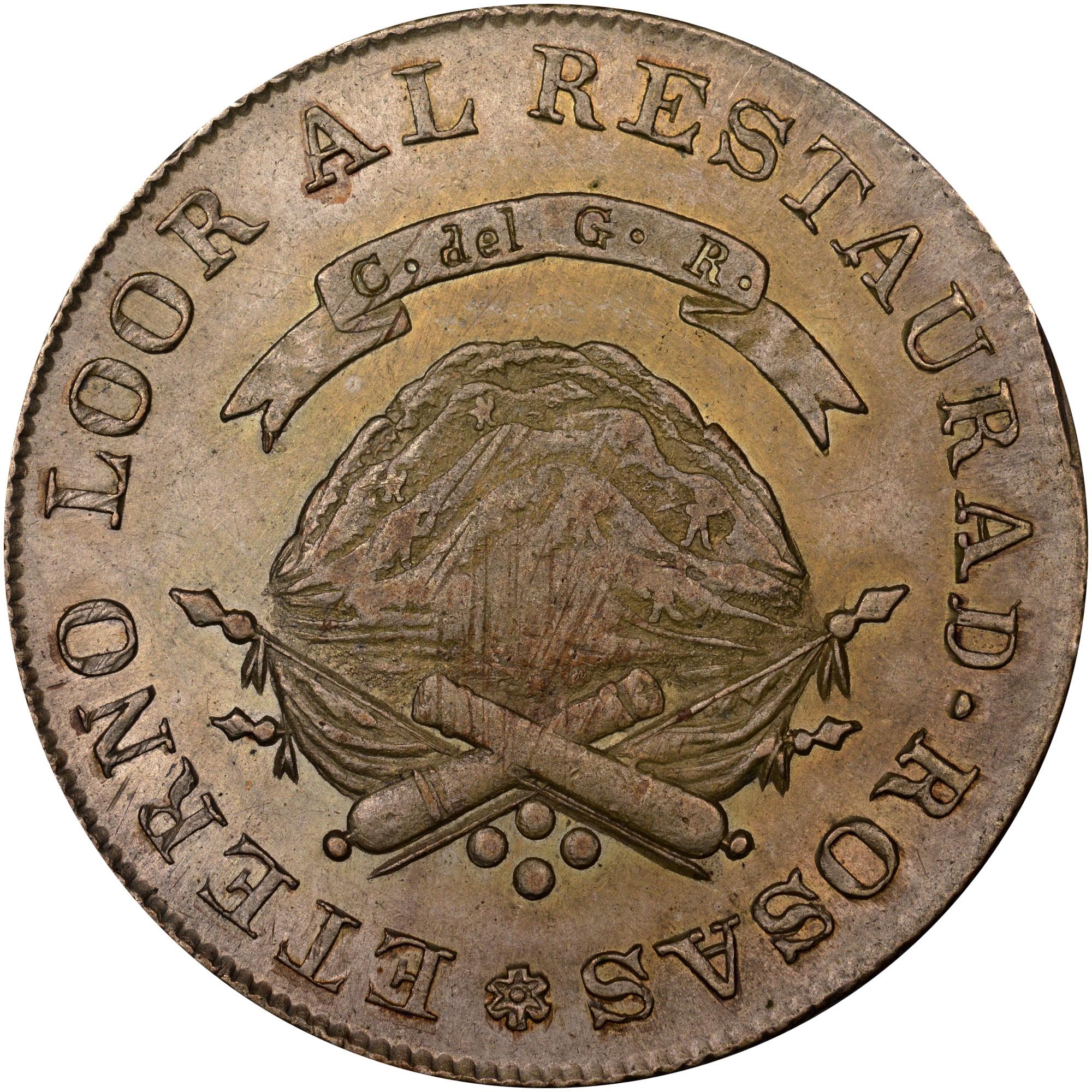 1846-1850 Argentina LA RIOJA 4 Reales reverse
