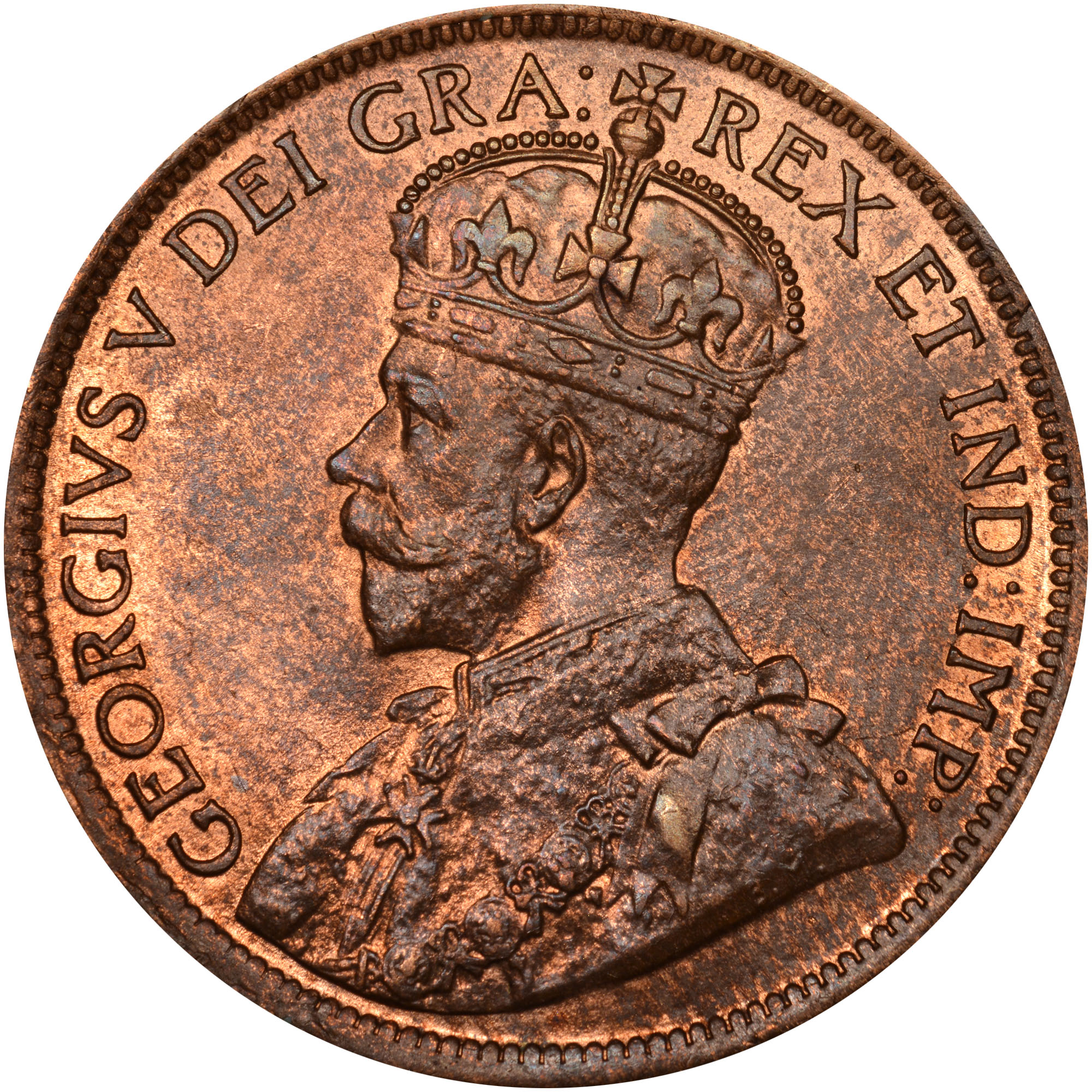 1912-1920 Canada Cent obverse