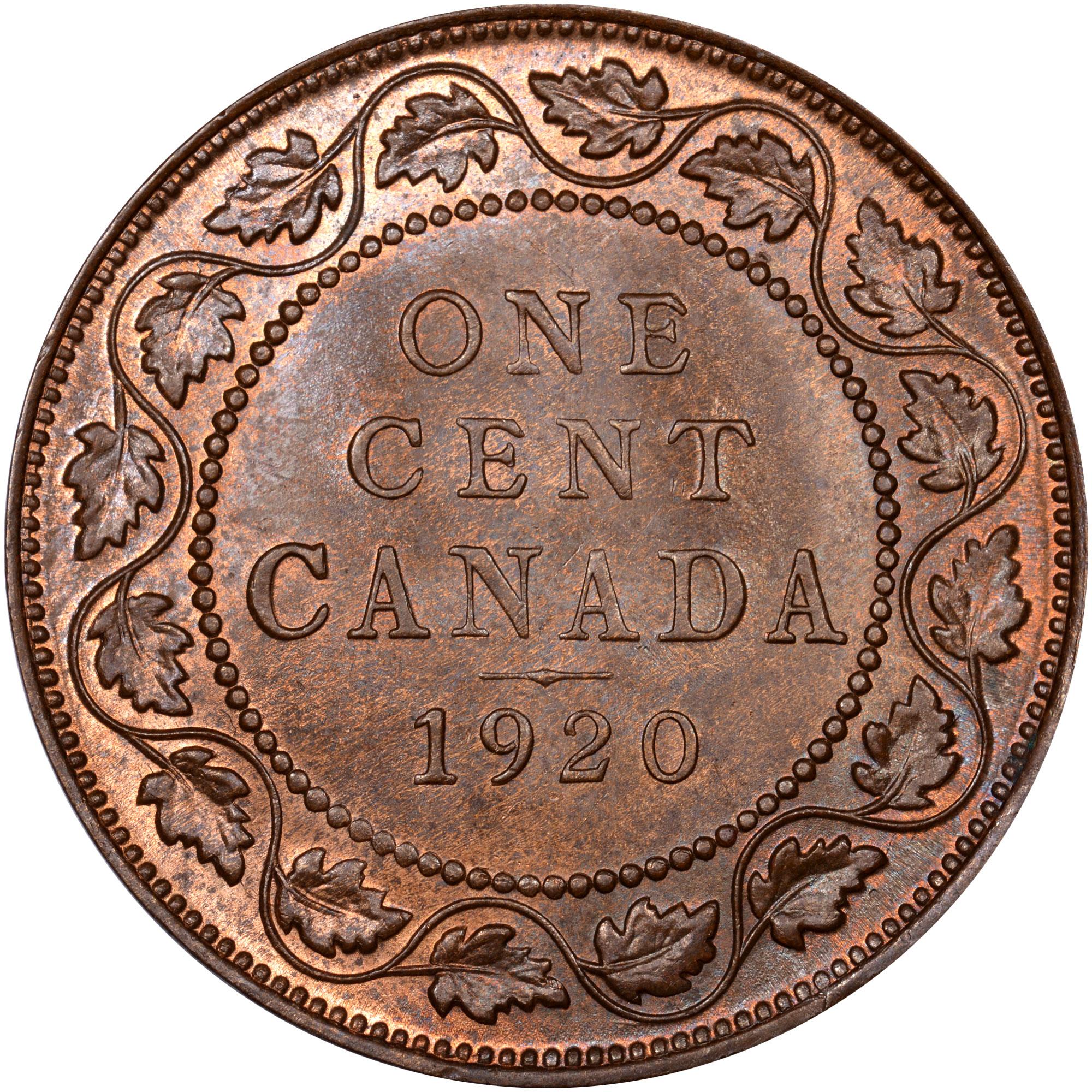 1912-1920 Canada Cent reverse