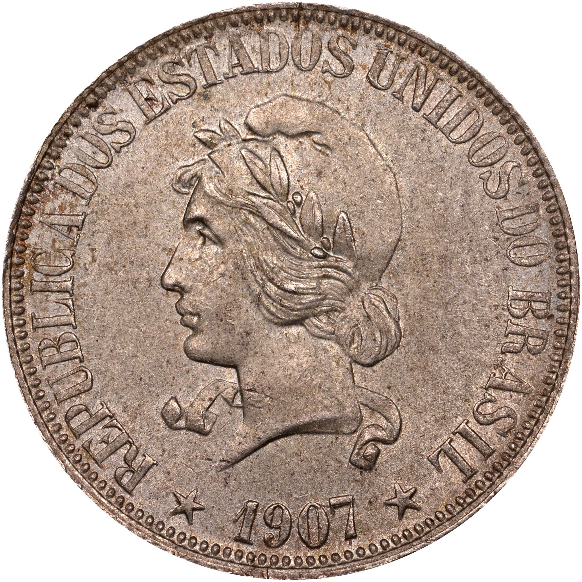 1906-1912 Brazil 1000 Reis obverse