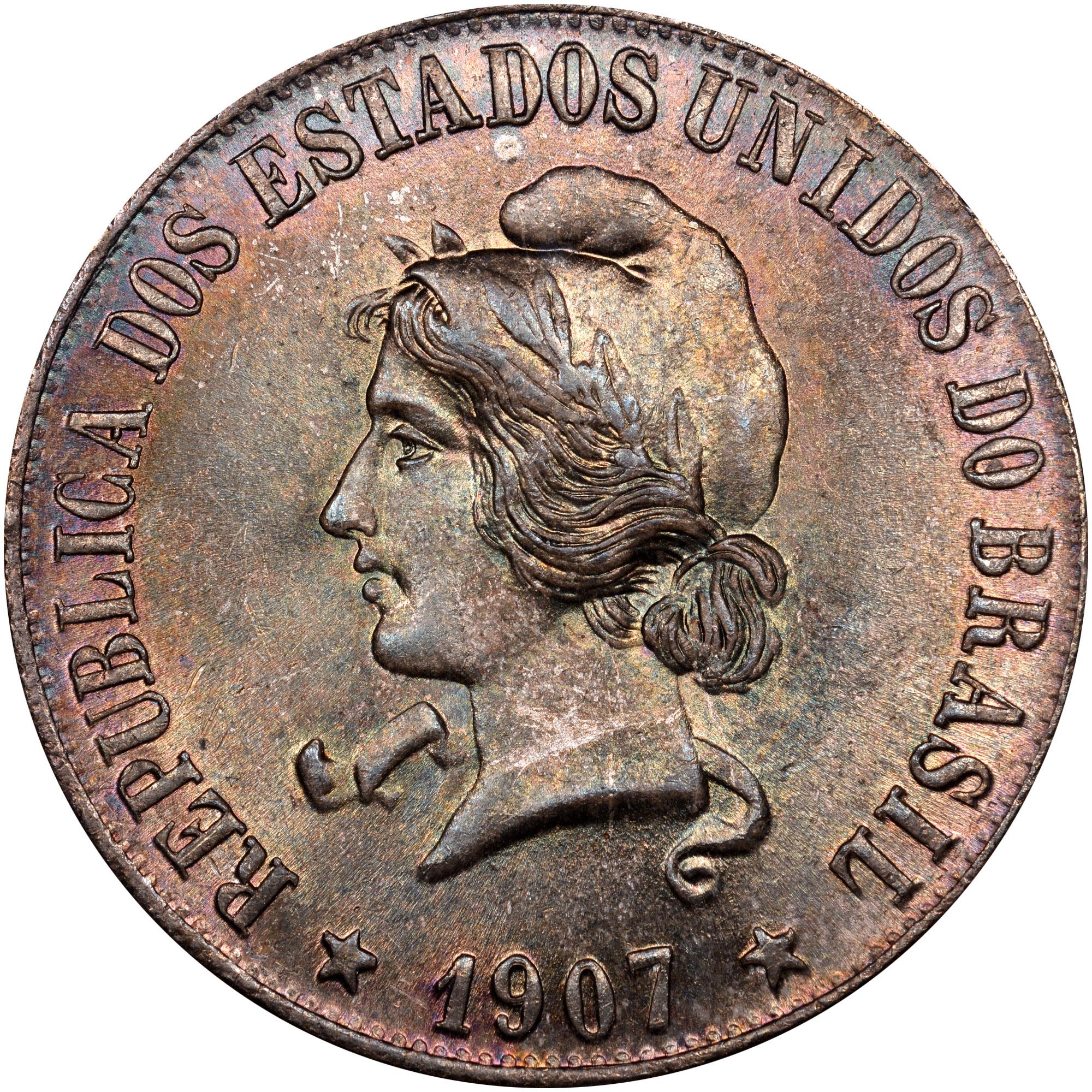1906-1912 Brazil 2000 Reis obverse