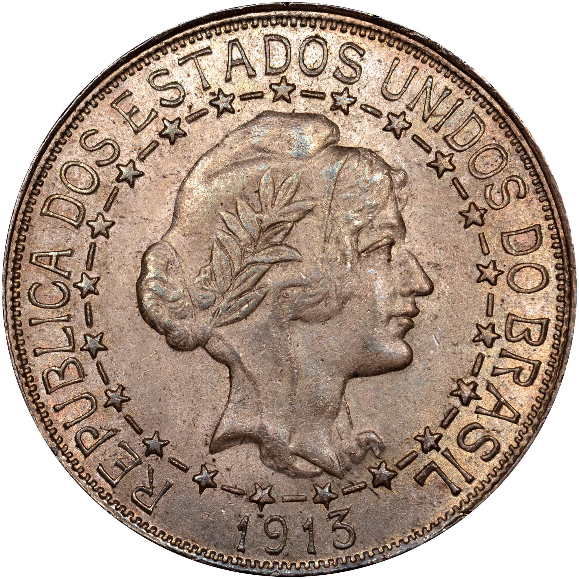 1912-1913 Brazil 2000 Reis obverse