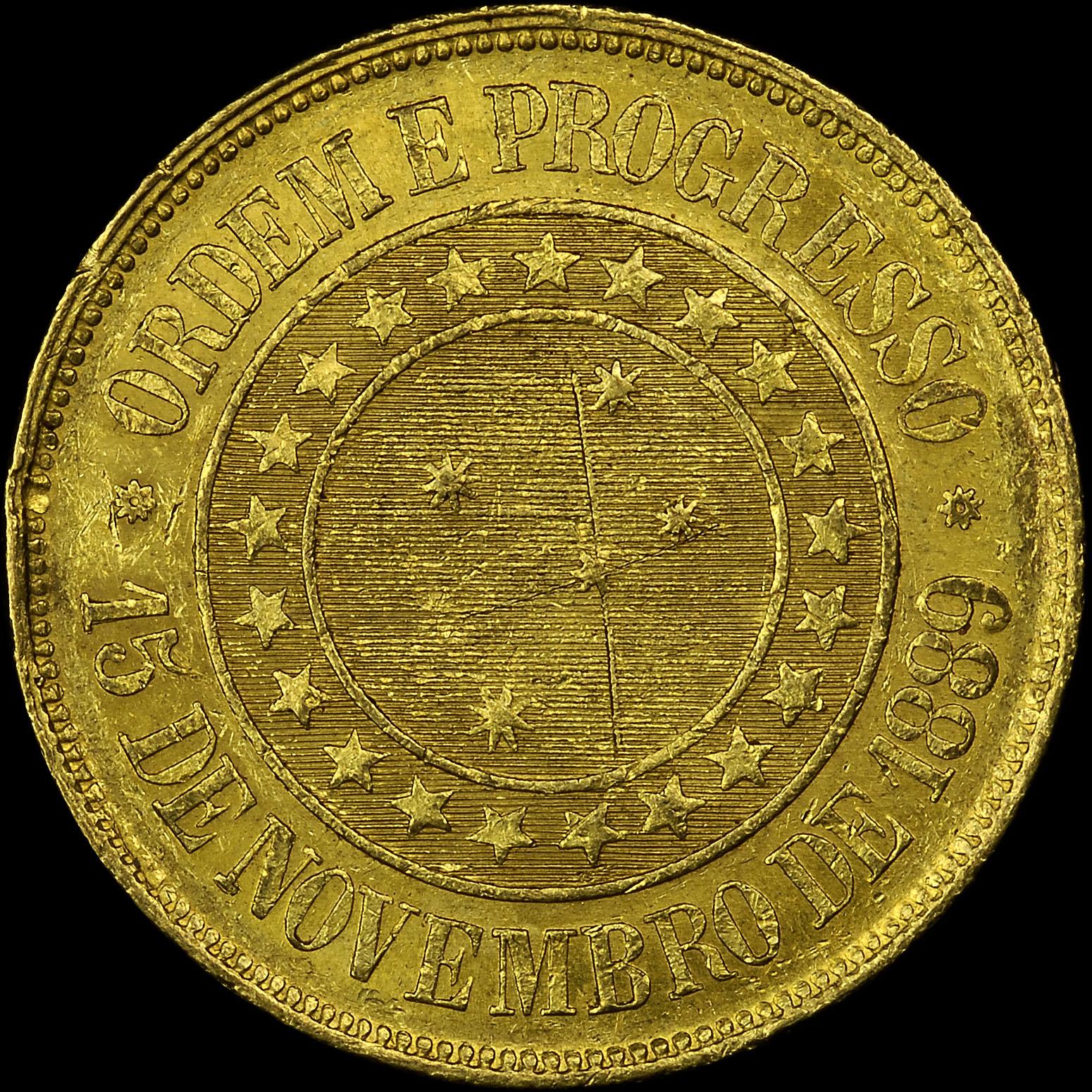 1889-1922 Brazil 20000 Reis reverse