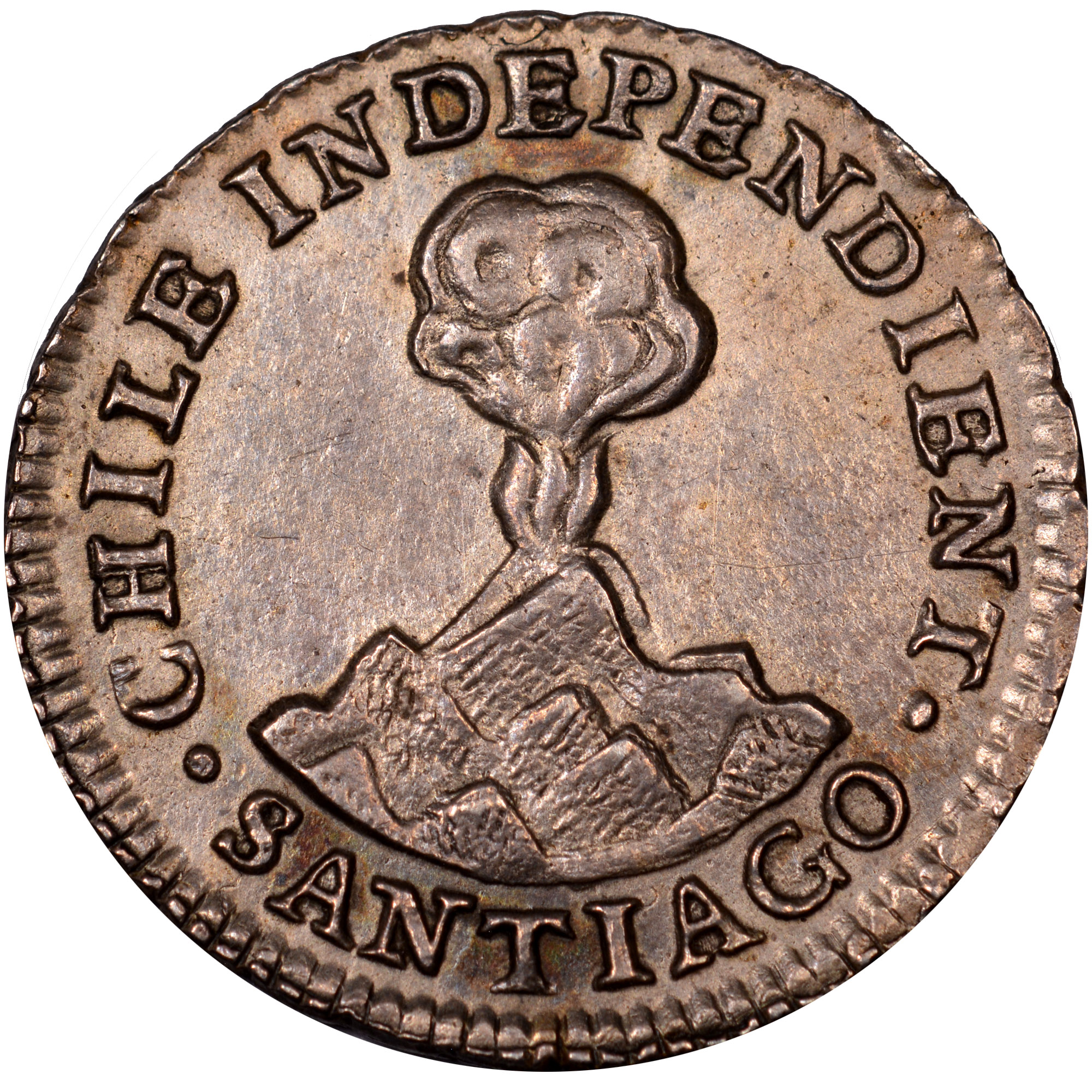 1833-1834/3 Chile 1/2 Real obverse