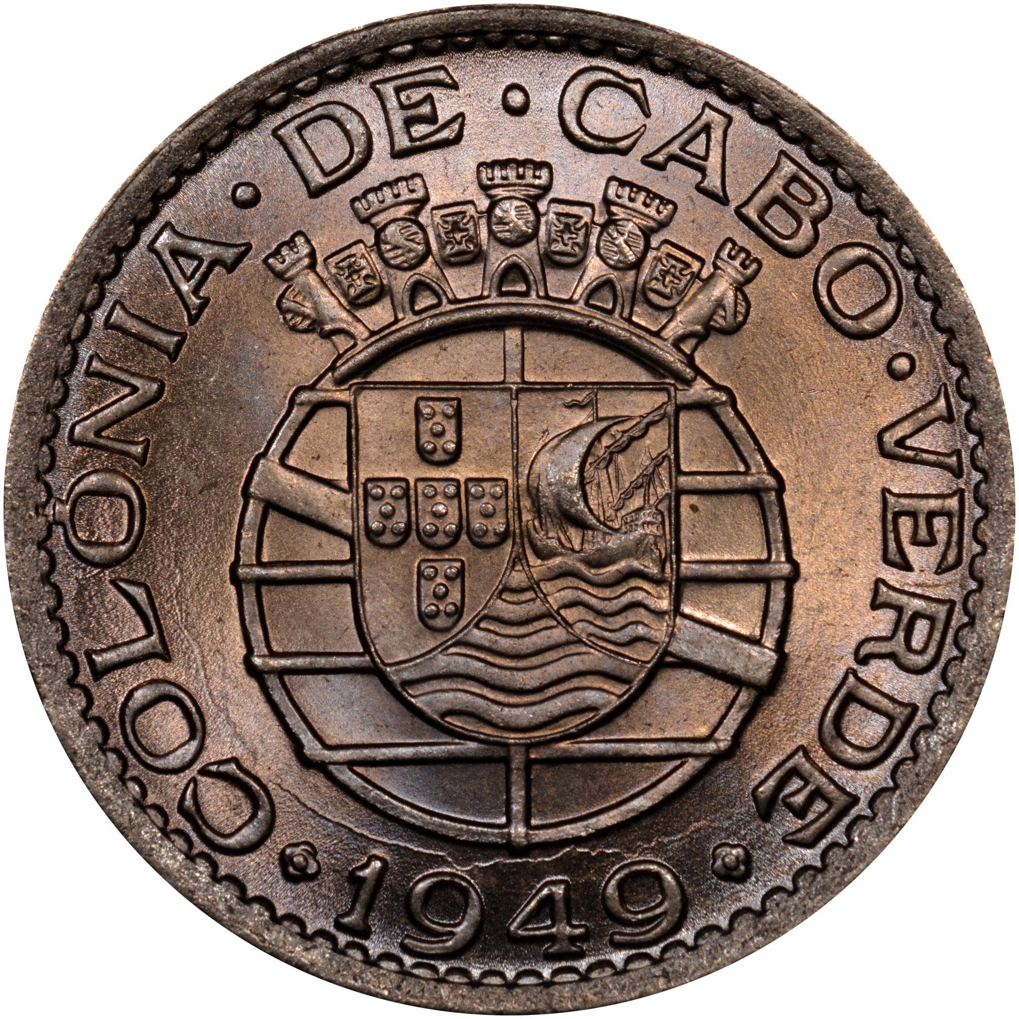 1949 Cape Verde Escudo reverse