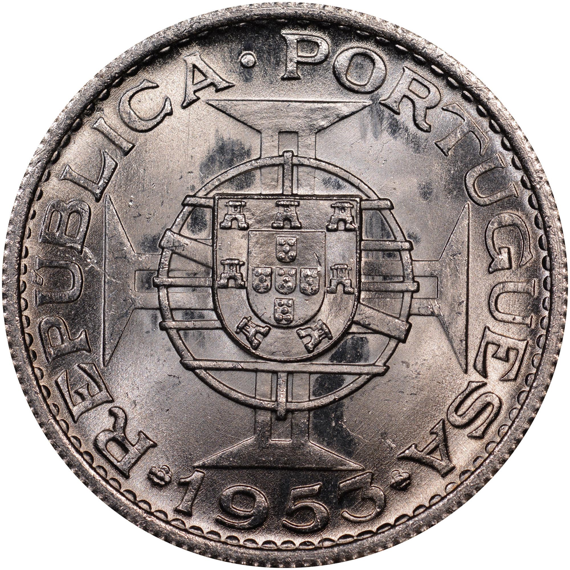 1953 Cape Verde 10 Escudos obverse
