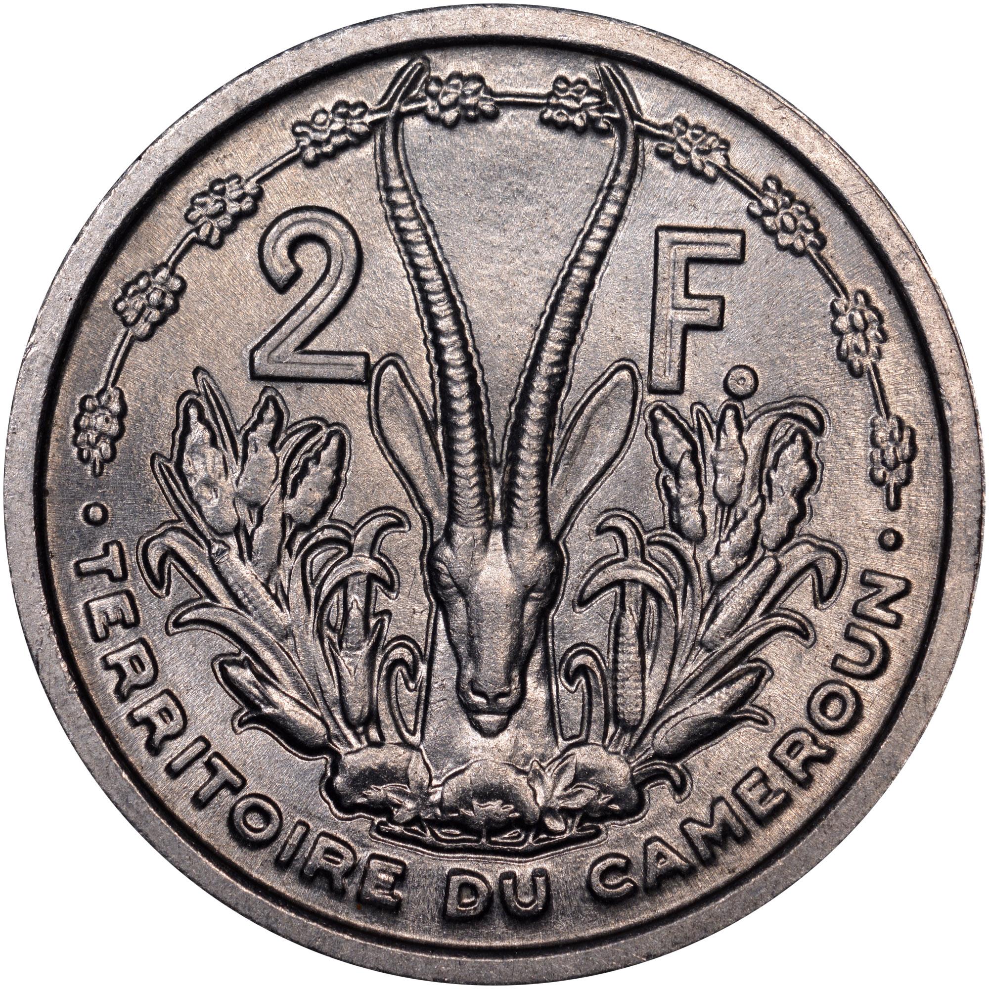 1948 Cameroon 2 Francs reverse