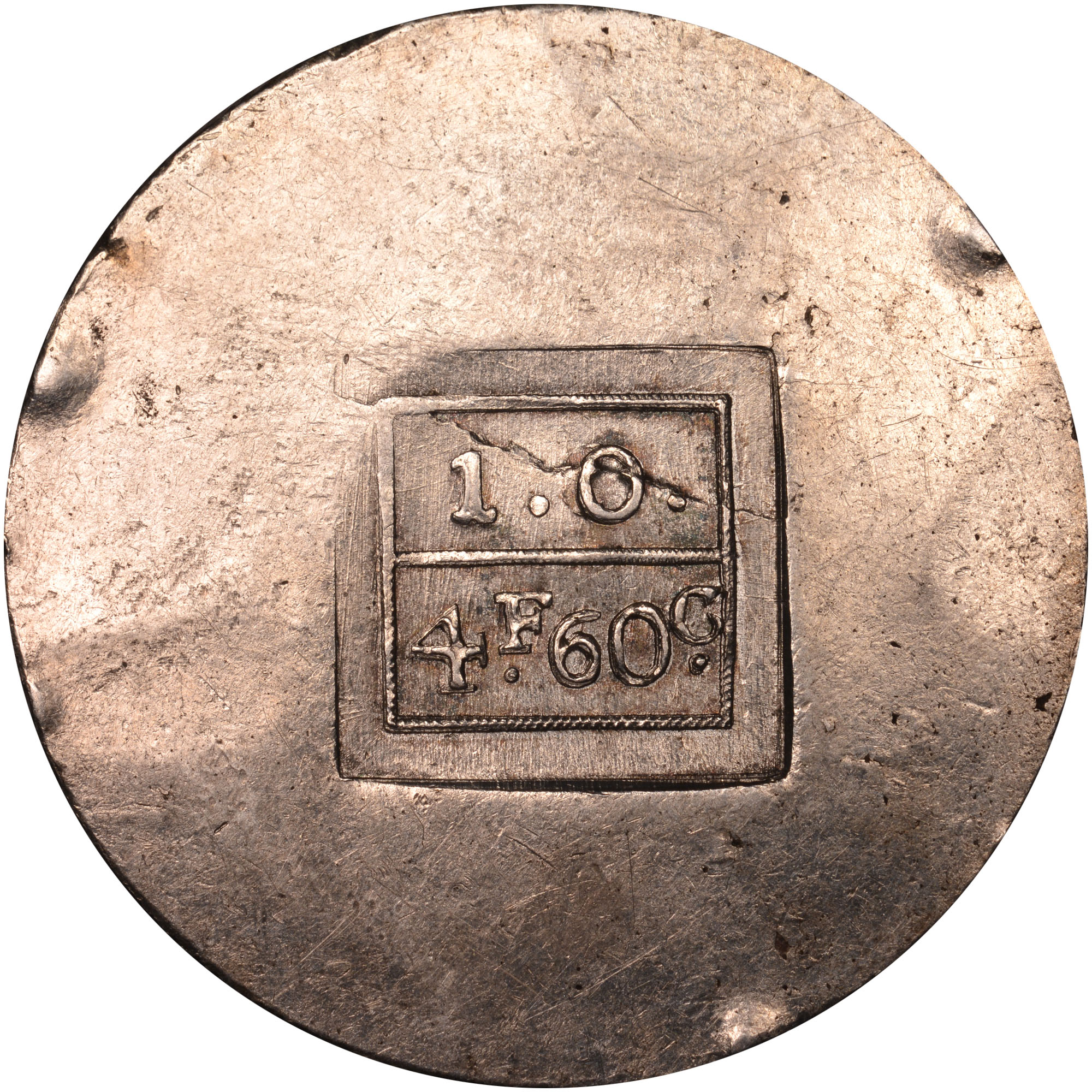 1813 Croatia ZARA 4 Francs-60 Centimes reverse
