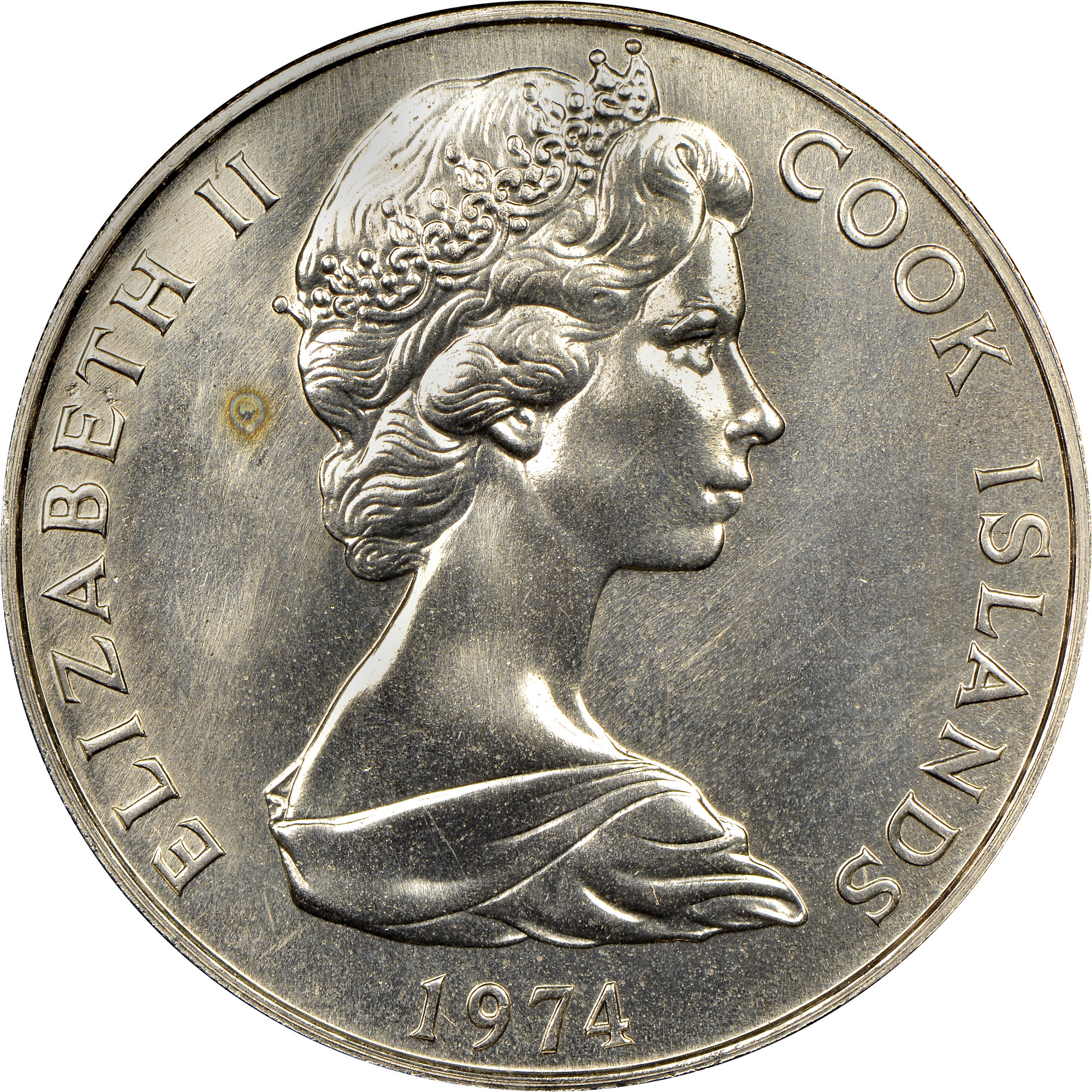 1972-1983 Cook Islands Dollar obverse