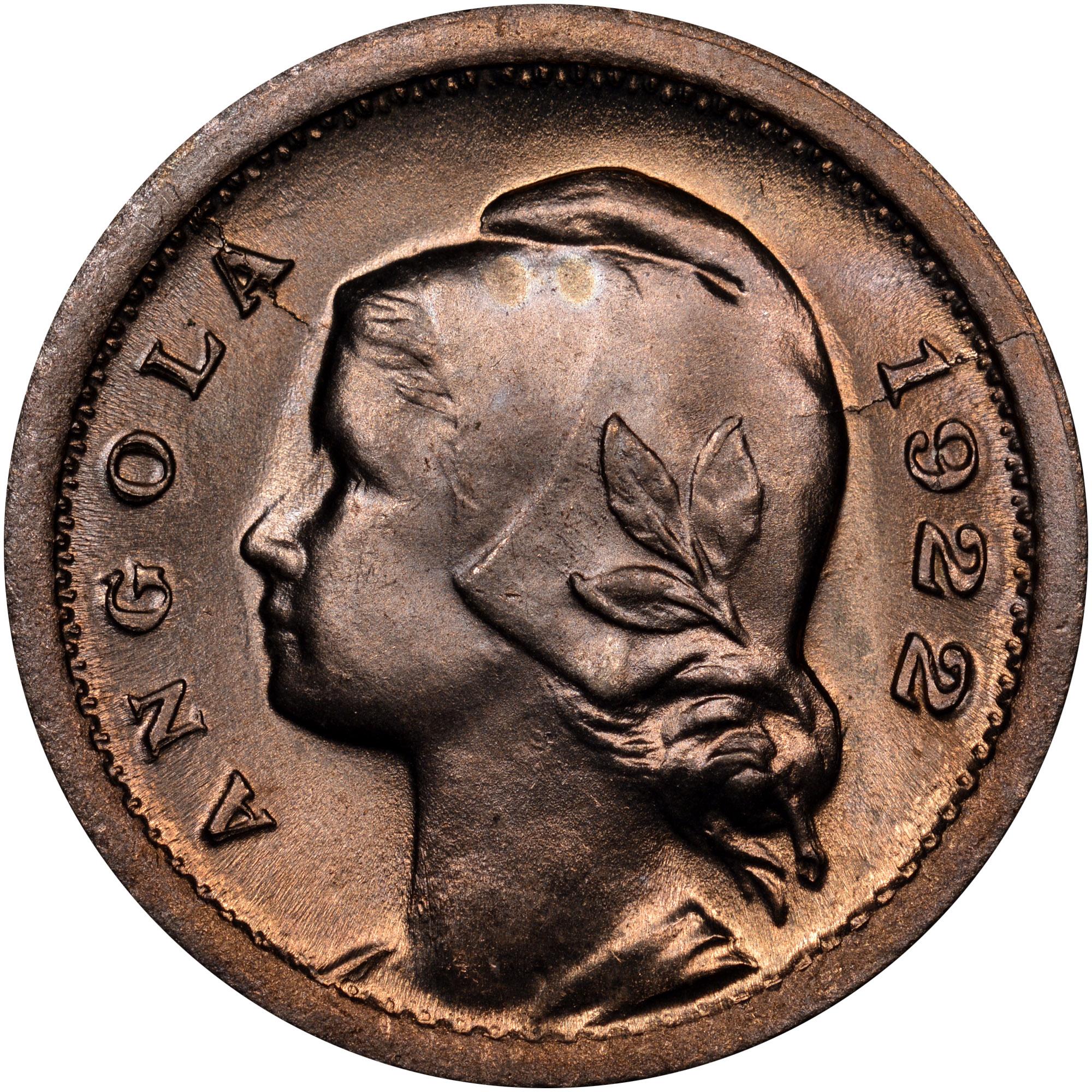 1921-1923 Angola 10 Centavos reverse