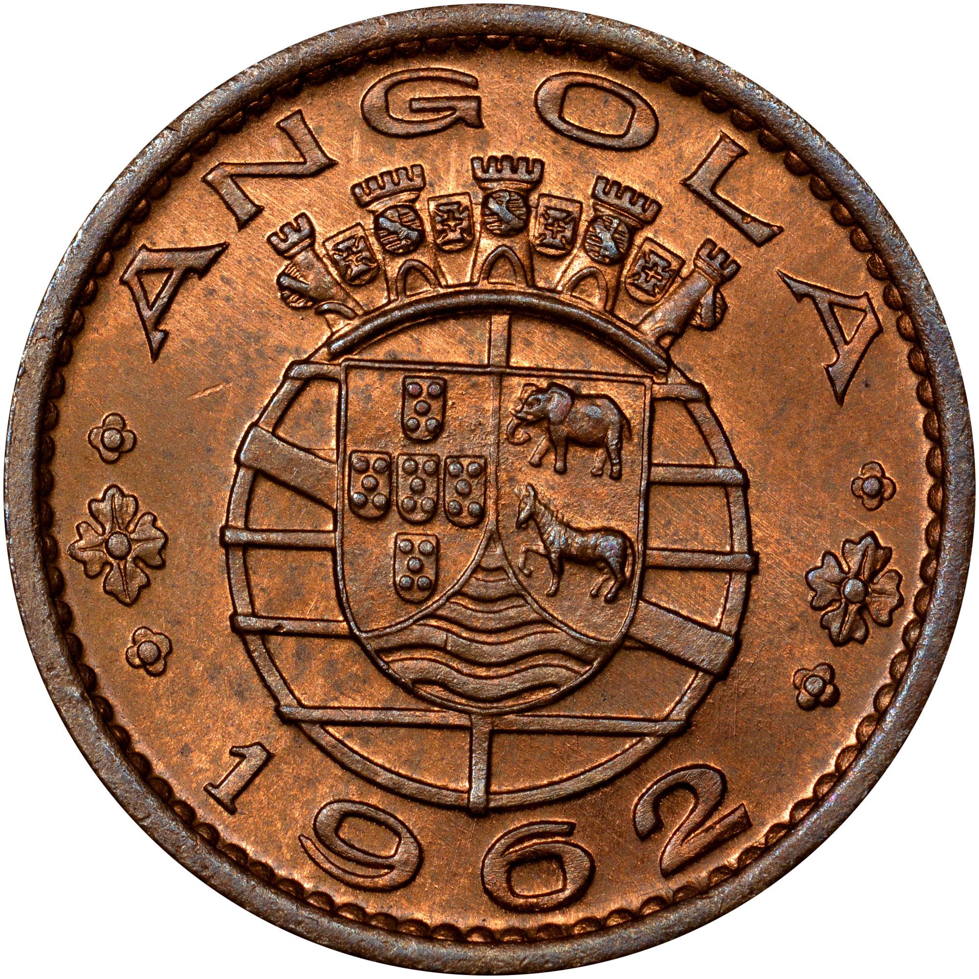 1962 Angola 20 Centavos reverse