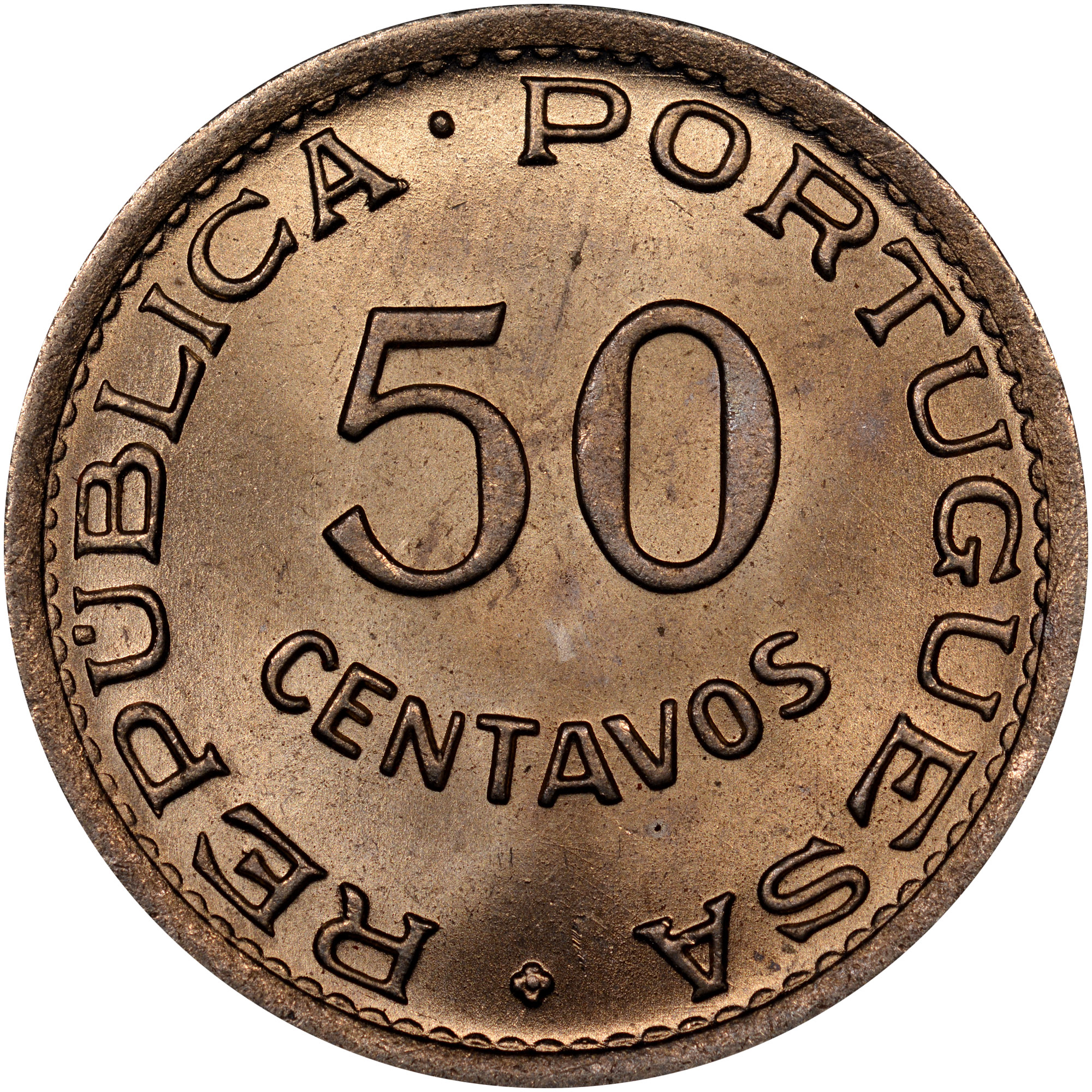 1948-1950 Angola 50 Centavos obverse
