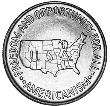 1951-1954 United States Half Dollar reverse