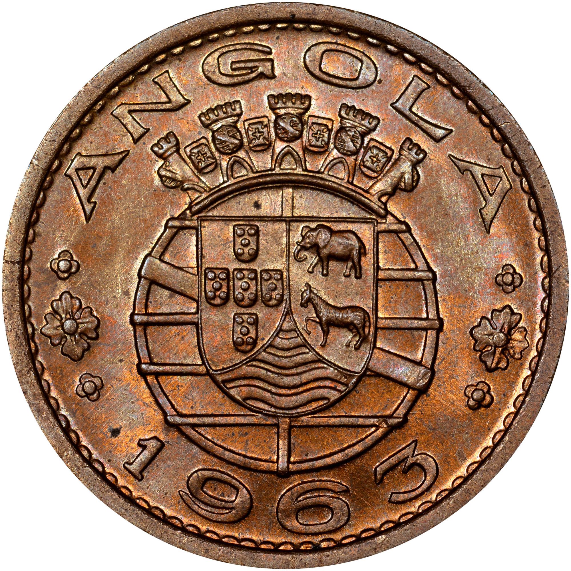 1963 Angola Escudo reverse