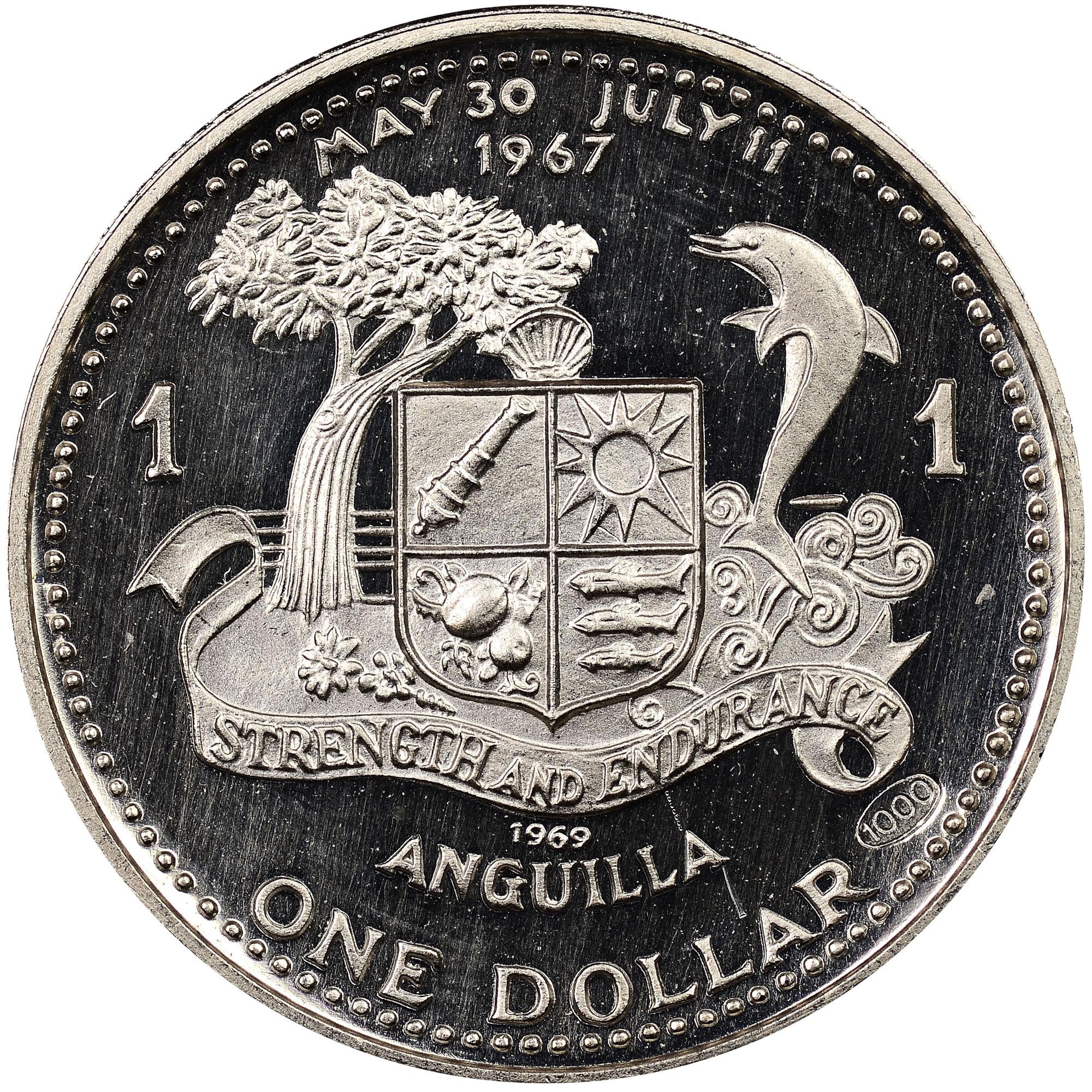 1969-ND Anguilla Dollar reverse