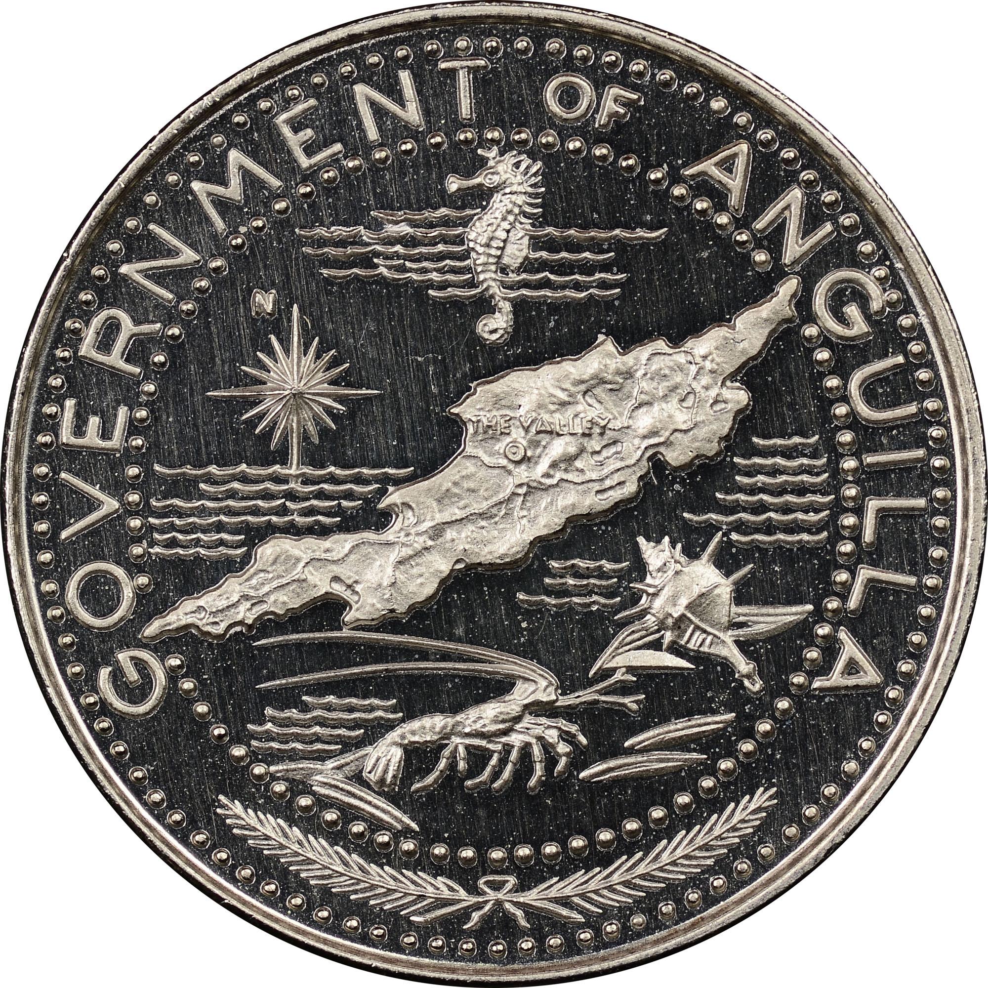 1969-ND Anguilla Dollar obverse
