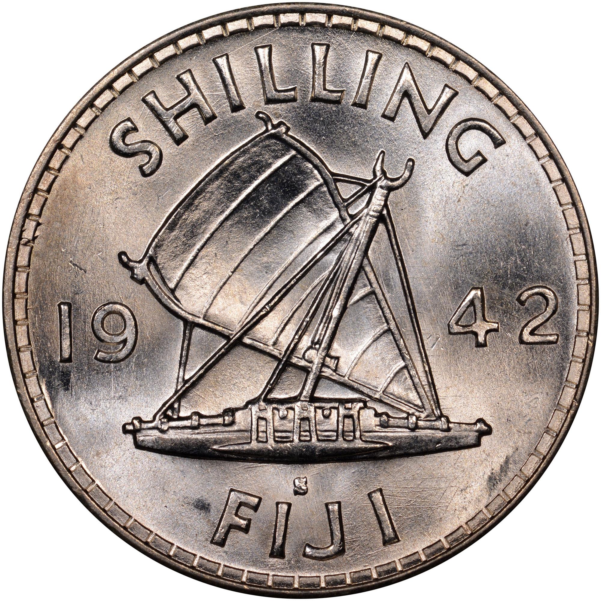 1942-1943 Fiji Shilling reverse