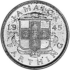 1938-1947 Jamaica Farthing reverse