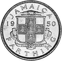 1950-1952 Jamaica Farthing reverse