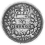 1836 Guyana 1/8 Guilder reverse