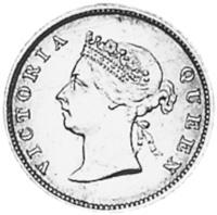 1891-1901 Guyana 4 Pence obverse