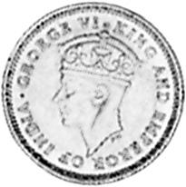 1938-1943 Guyana 4 Pence obverse