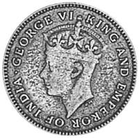 1944-1945 Guyana 4 Pence obverse