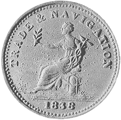 1838 Guyana Stiver obverse