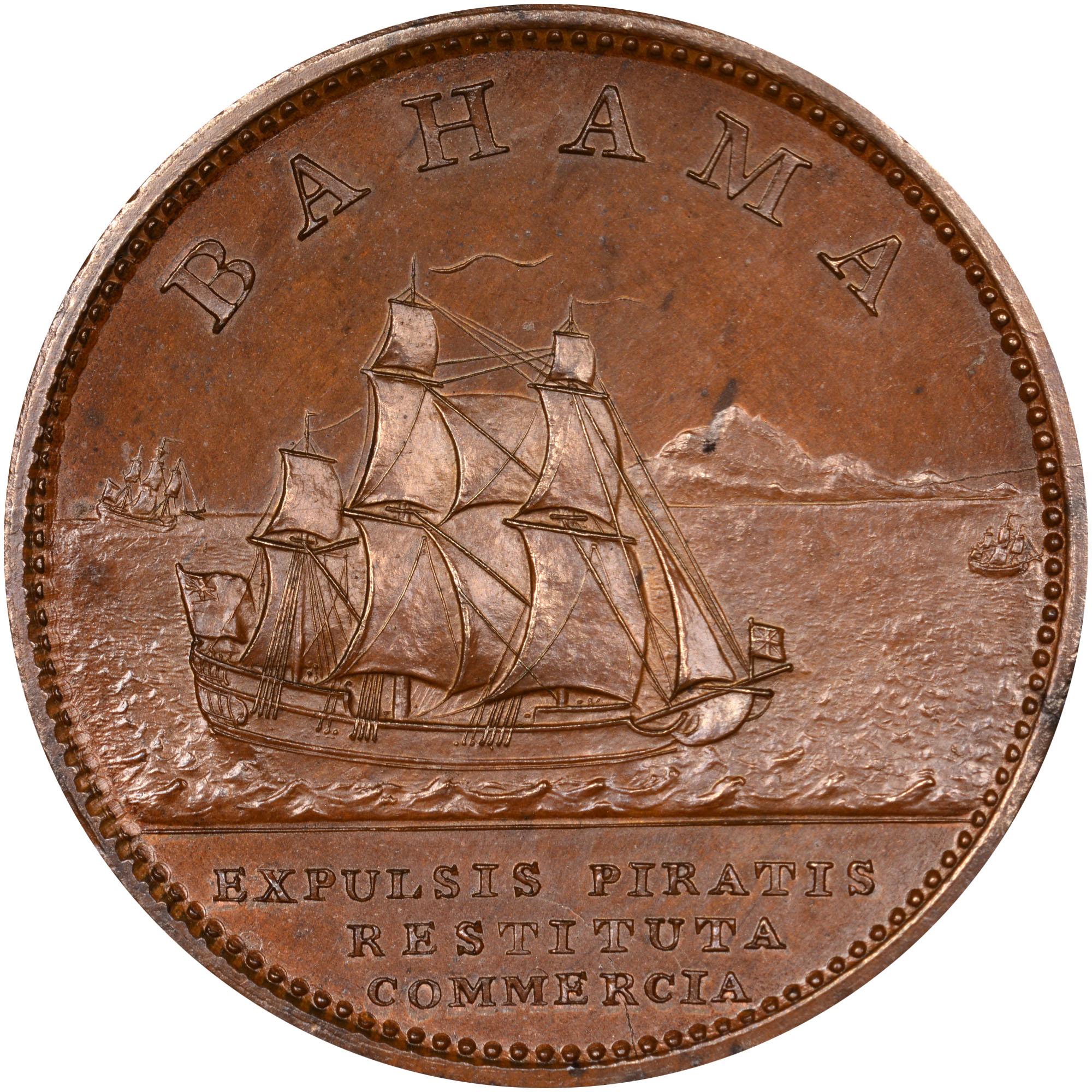 1806-1807 Bahamas Penny reverse