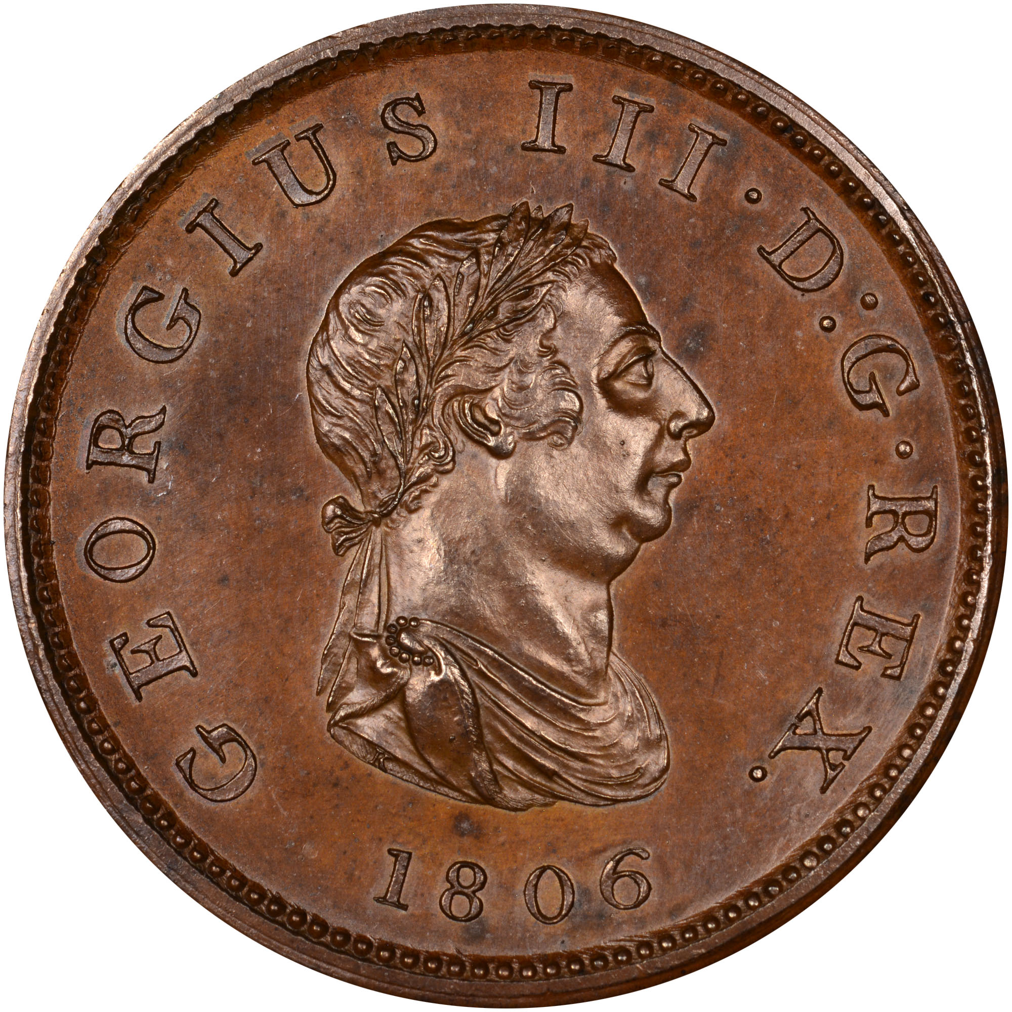 1806-1807 Bahamas Penny obverse