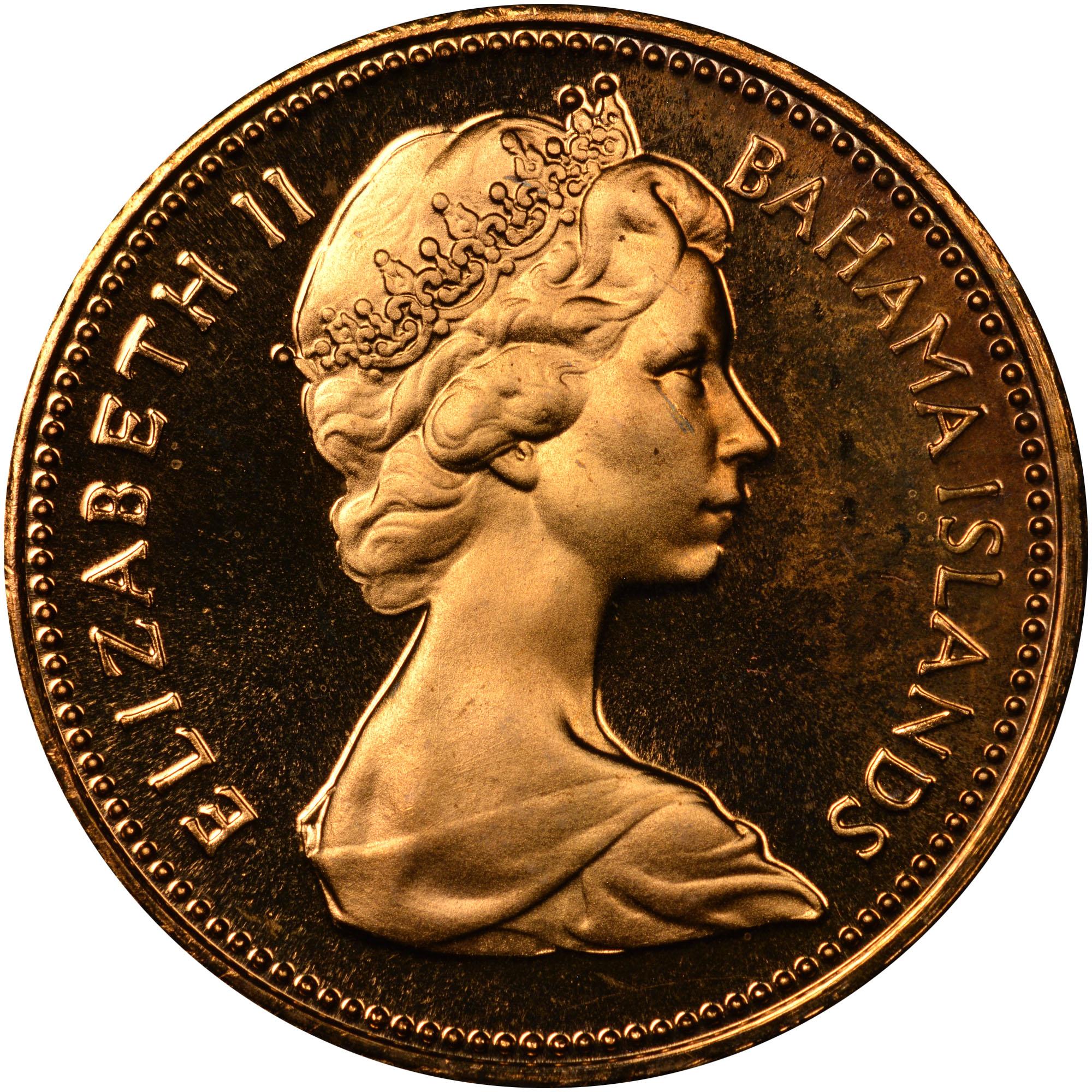 1970 Bahamas Cent obverse
