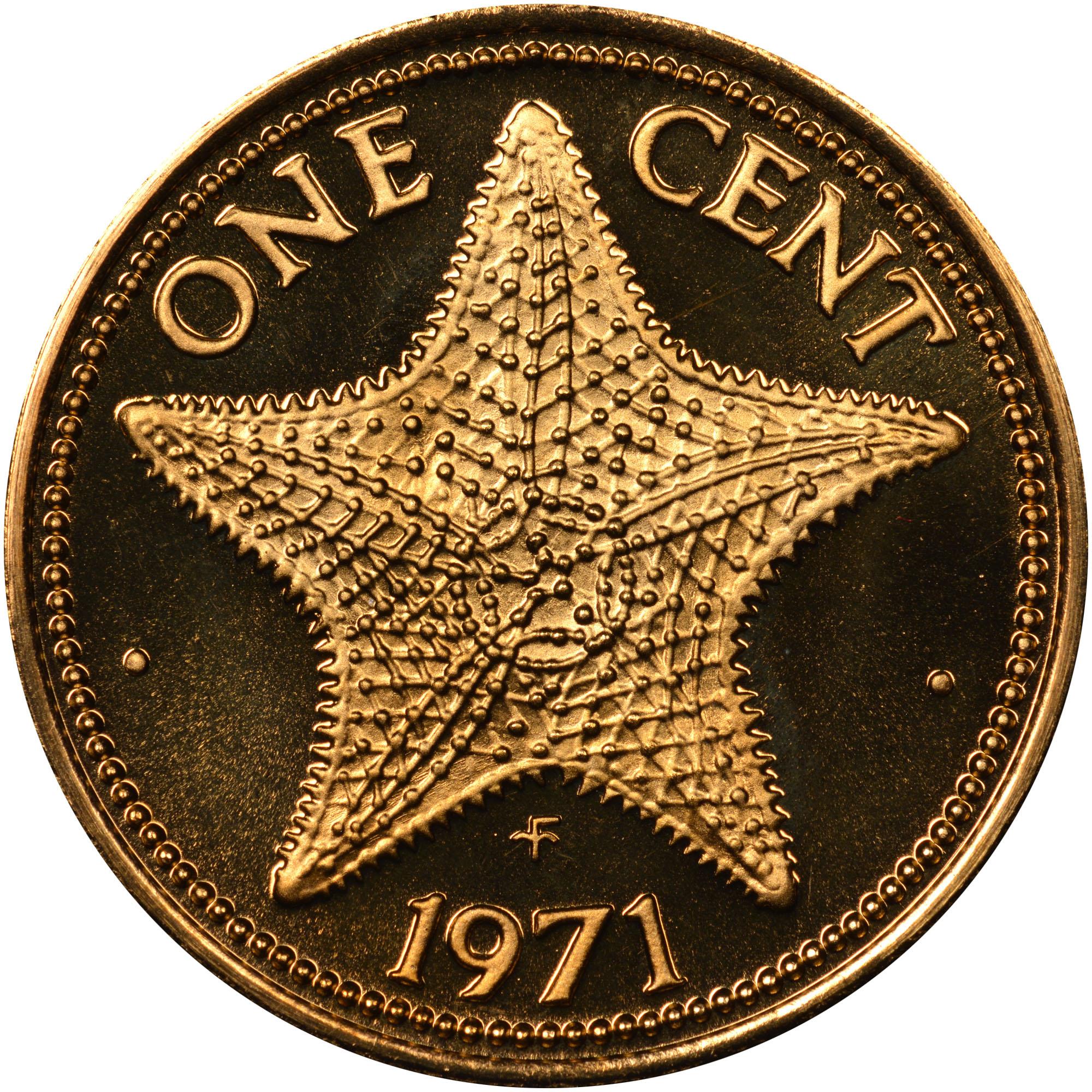 1971-1973 Bahamas Cent reverse