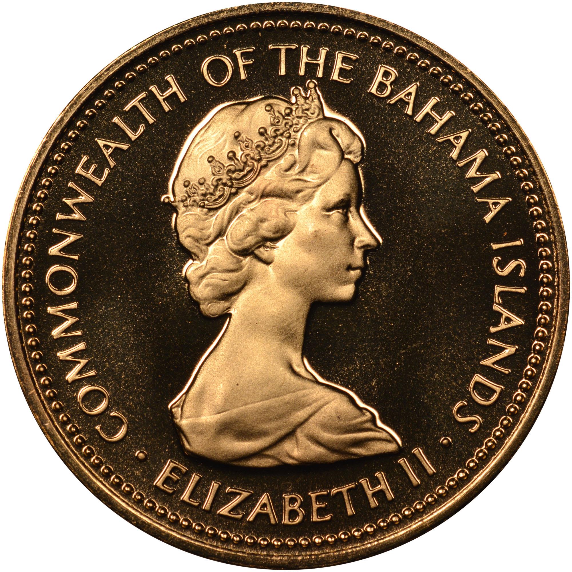 1971-1973 Bahamas Cent obverse