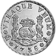 1732-1741 Mexico 2 Reales reverse