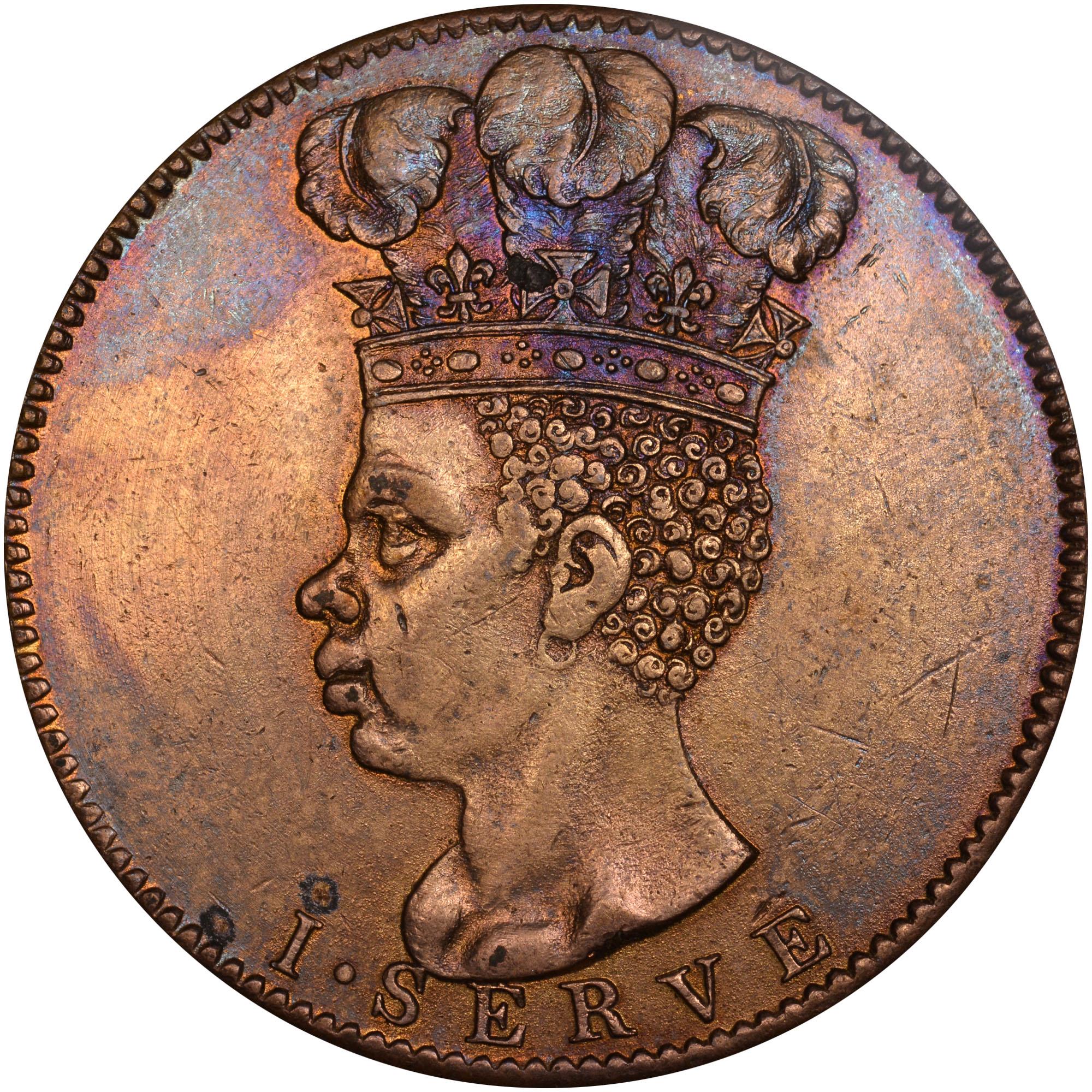 1792 Barbados Penny reverse